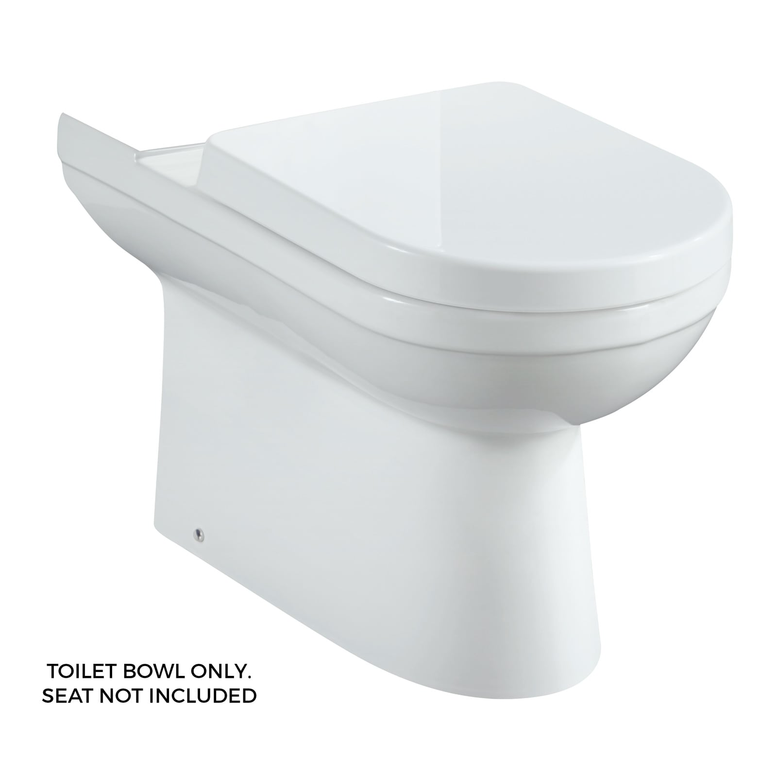 Mirabelle MIRML240WH White Milazzo Toilet Bowl Only - Faucet.com