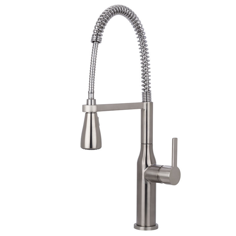 Etonnant Miseno MNO500BSS Stainless Steel Galleria Pre Rinse Kitchen Faucet With  Multi Flow Spray Head (Includes Optional Deck Plate)   Faucet.com