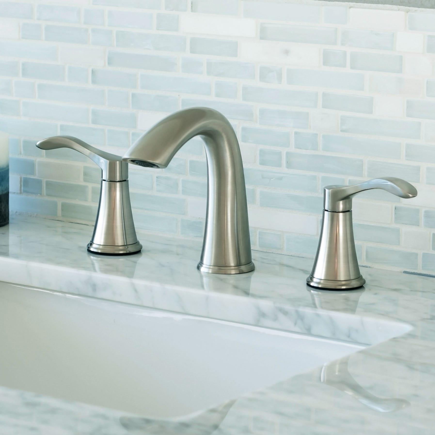 Miseno MNO311BN Brushed Nickel Bella-O Widespread Bathroom Faucet ...