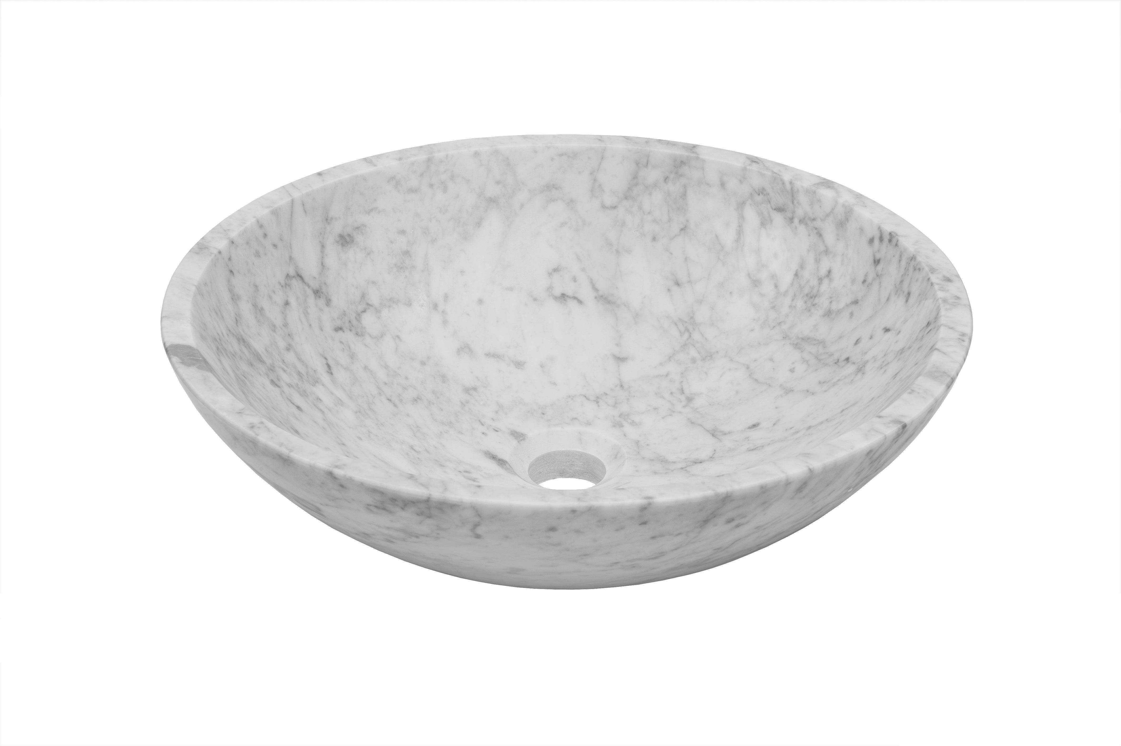 Miseno Mno Wc Bn Brushed Nickel Drain Circular 17 Carrera Marble Vessel Bathroom Sink Faucet Com