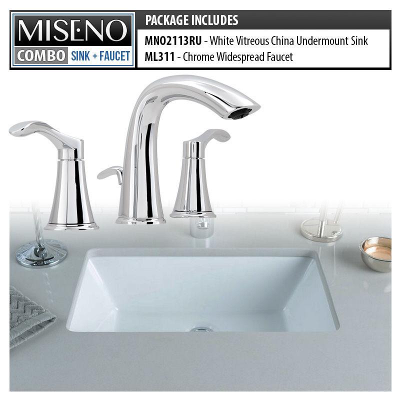 Miseno MNO2113RU / MNO311-BN White / Brushed Nickel Bathroom Combo ...