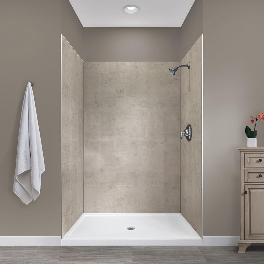 Shower BACK WALL REAR PANEL SHOWER aluminium stone middle concrete Concrete Fine ns402