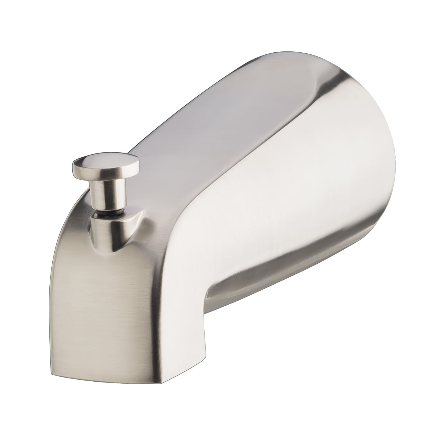 kohler forte k sculpted polished fit tub spout slip p bath cp diverter with in connection chrome