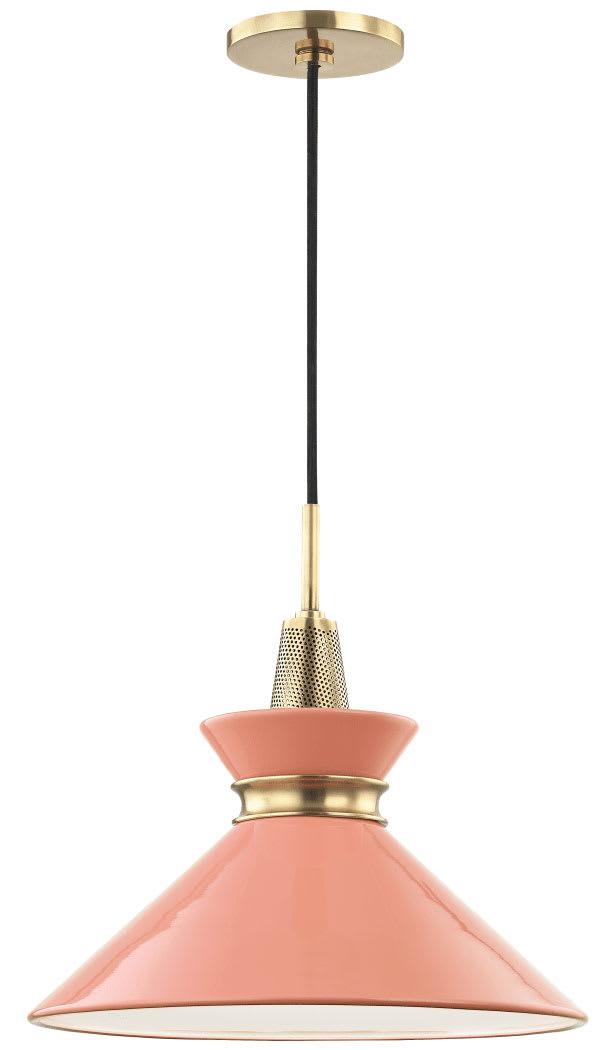 Mitzi H251701s Pn Mnt Polished Nickel Mint Kiki Single Light 14 Wide Pendant Lightingshowplace Com