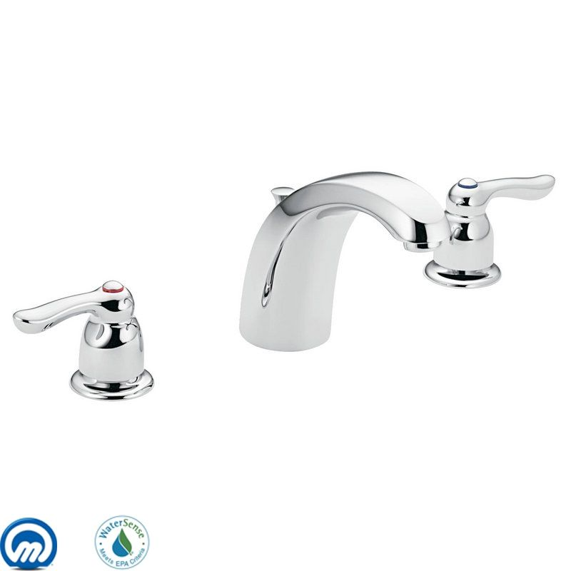 Moen 4945 Chrome Double Handle Widespread Bathroom Faucet from the ...