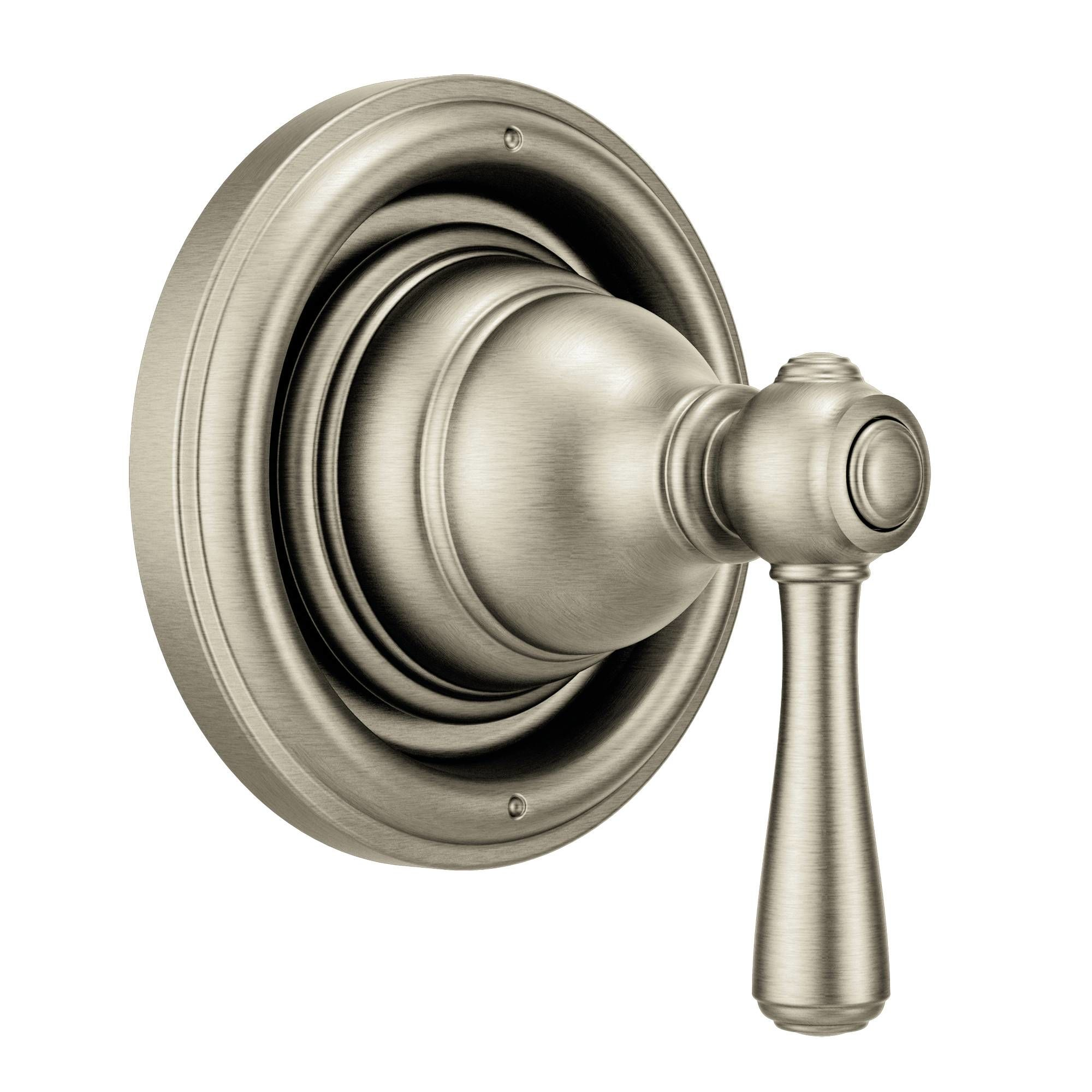 Moen 535BN Brushed Nickel Pressure Balanced Shower System With Shower Head,  Integrated Volume Control, Diverter, And Hand Shower From The Kingsley ...