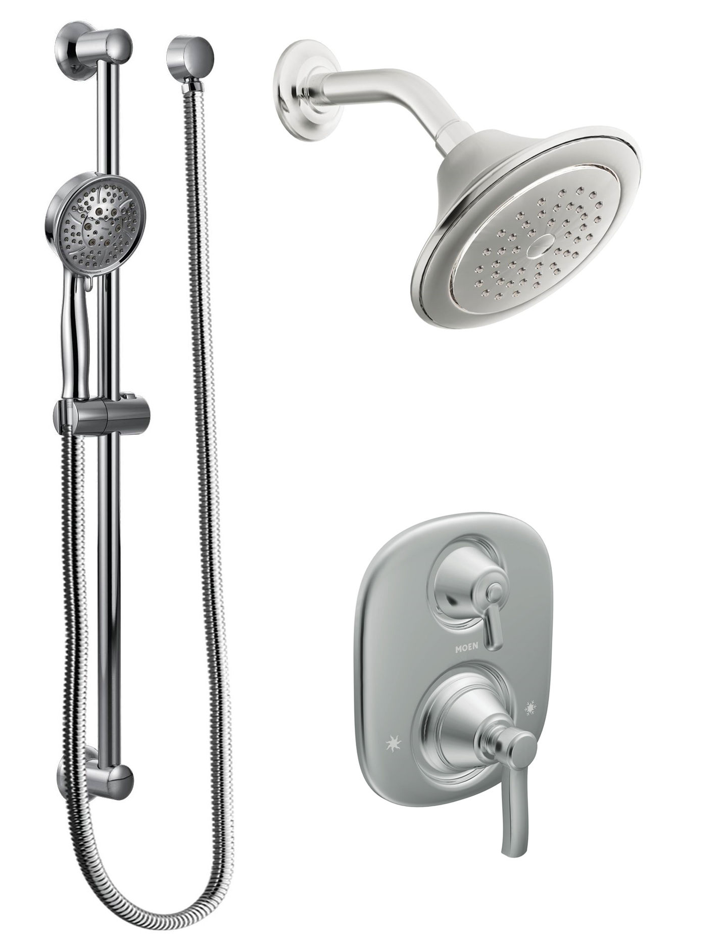 Moen 603SEP Chrome Pressure Balanced Shower System with 2 GPM Shower ...