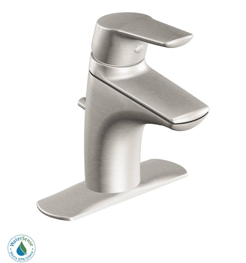 Moen 6810 Chrome Single Handle Single Hole Bathroom Faucet From The Method  Collection (Valve Included)   FaucetDirect.com