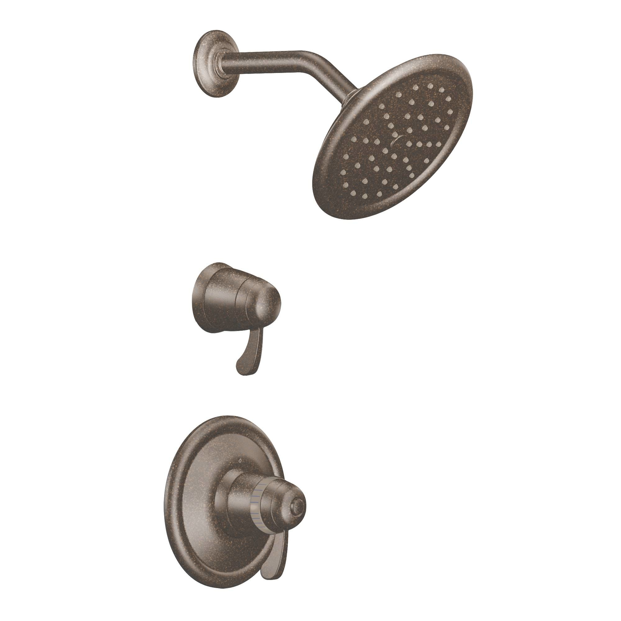 Moen 770BN Brushed Nickel Thermostatic Shower System with Shower ...