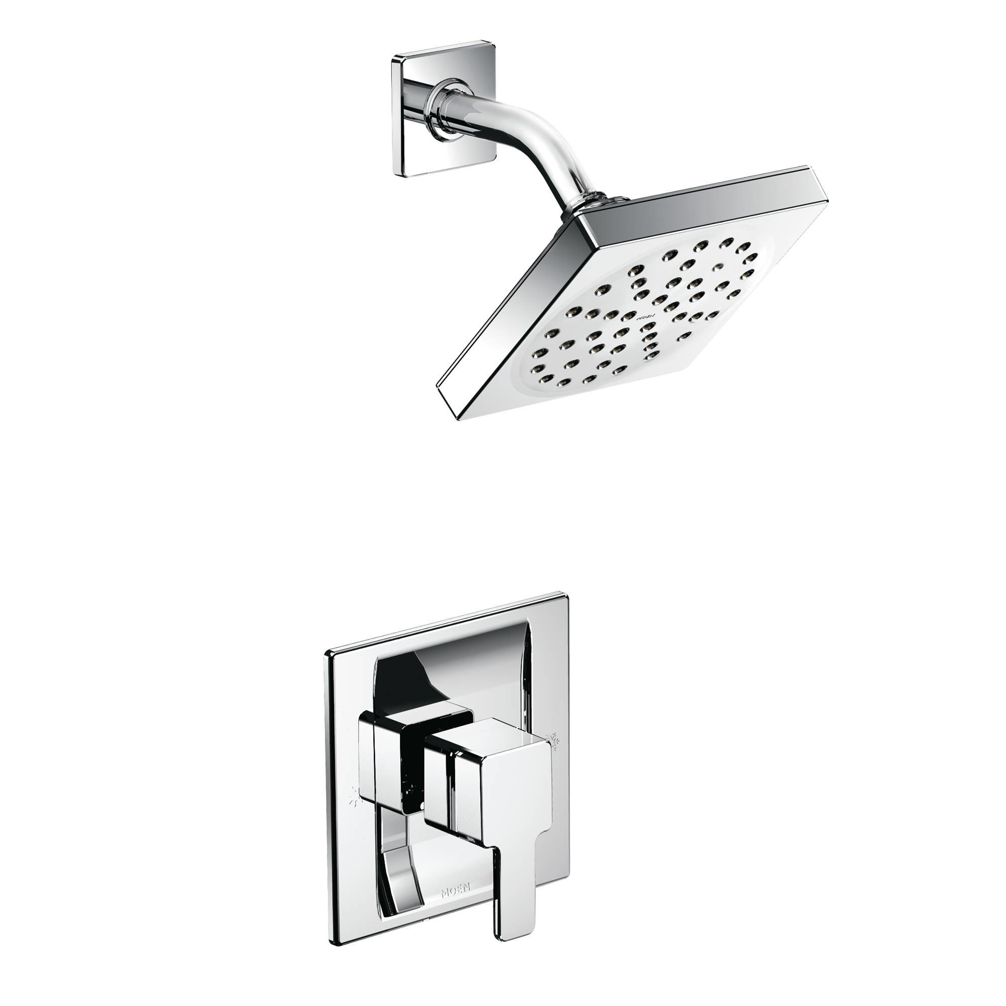 Moen 825BN Brushed Nickel Posi-Temp Shower System with Rain Shower ...