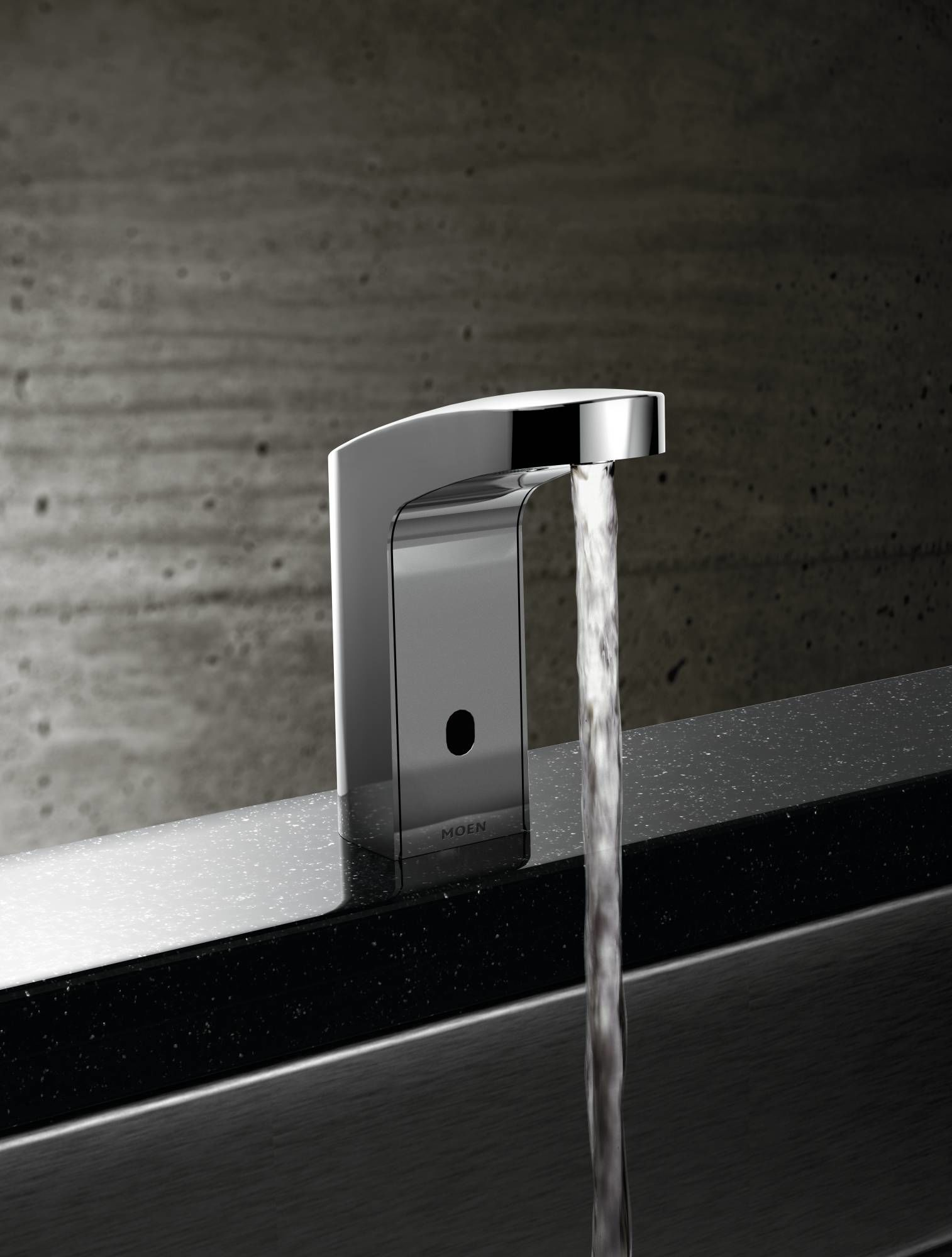 Moen 8551 Chrome Electronic Single Hole Bathroom Faucet with ...