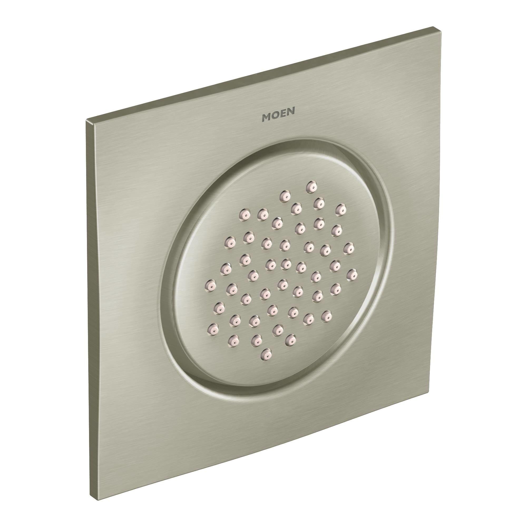 moen bn brushed nickel shower system with rain moen rain shower head ceiling