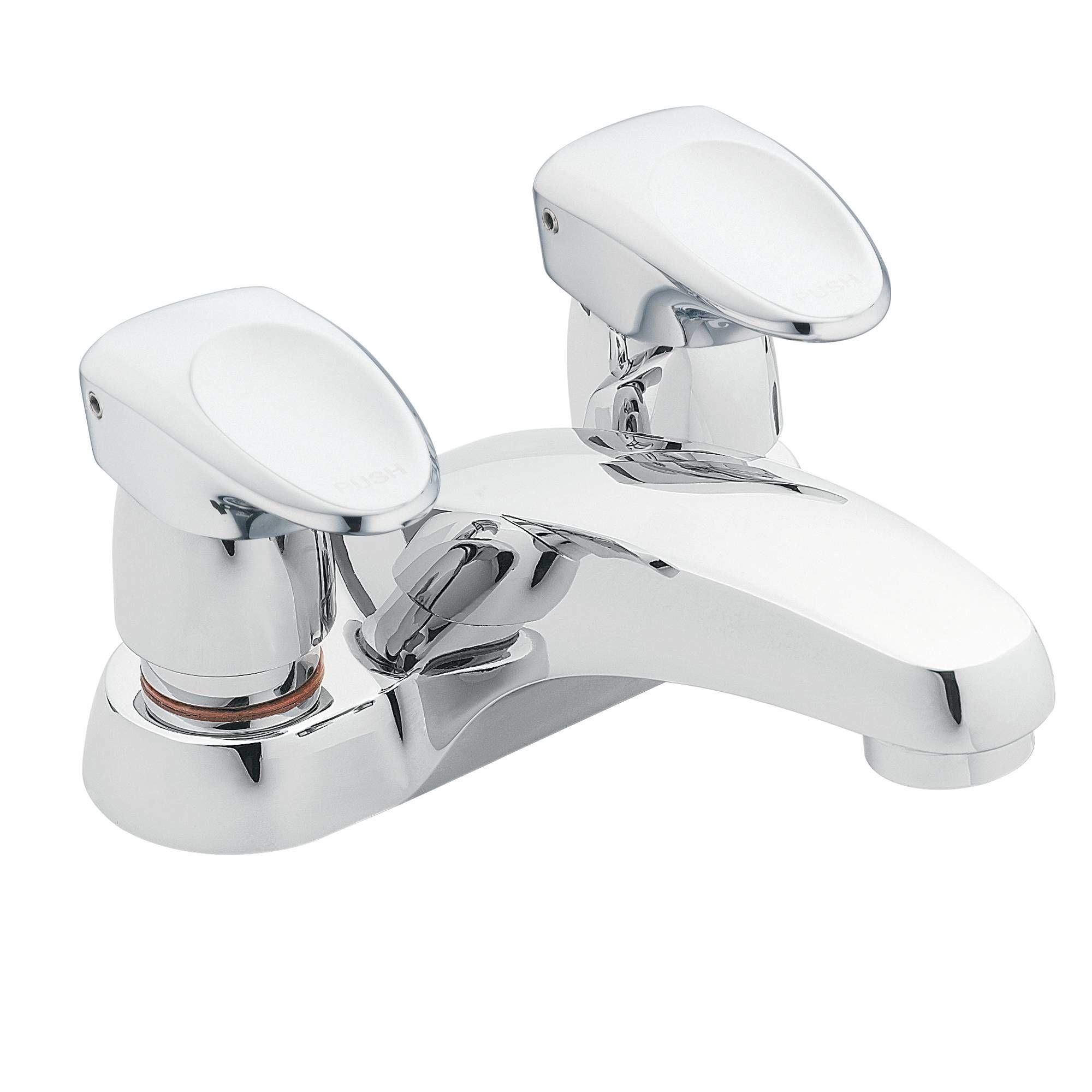 Moen Chrome Single Handle Centerset Metering Bathroom Faucet - Moen commercial bathroom faucets