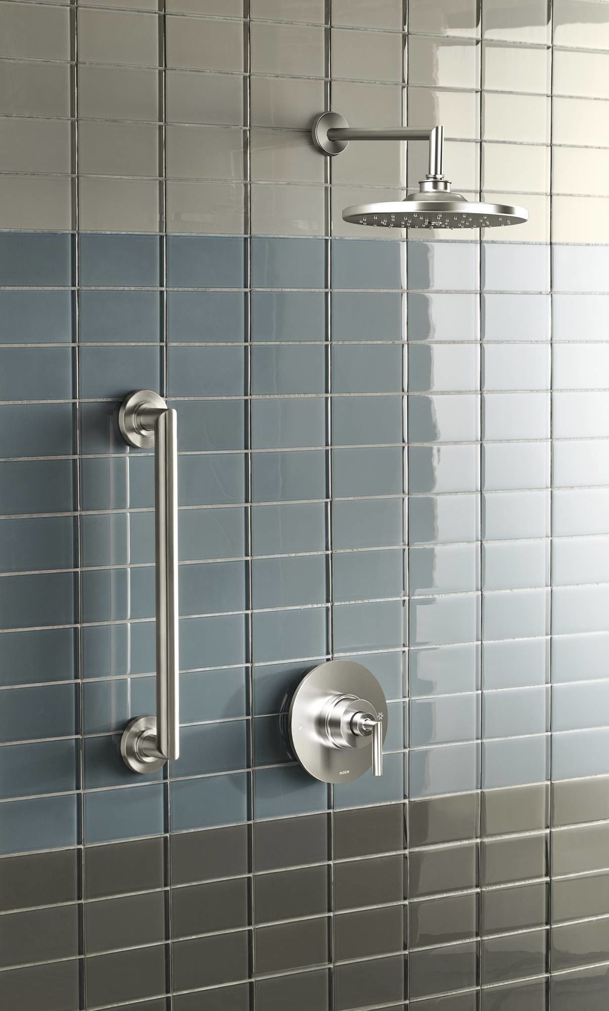 Moen 925 Chrome Pressure Balanced Shower System with Rain Shower, Diverter,  and Hand Shower from the Arris Collection (Valves