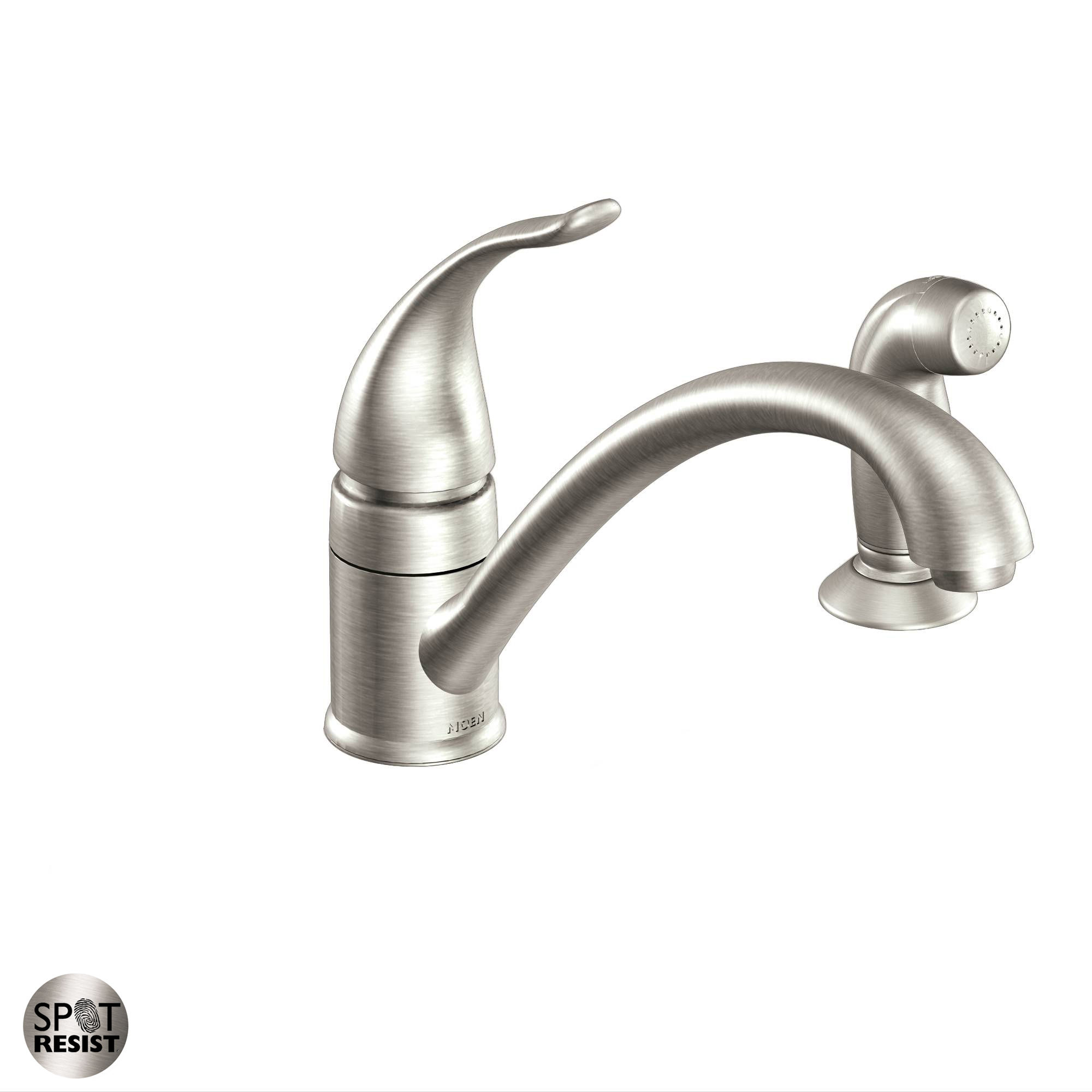 woodmere handle arc dp moen com amazon faucet pulldown kitchen high sink one chrome
