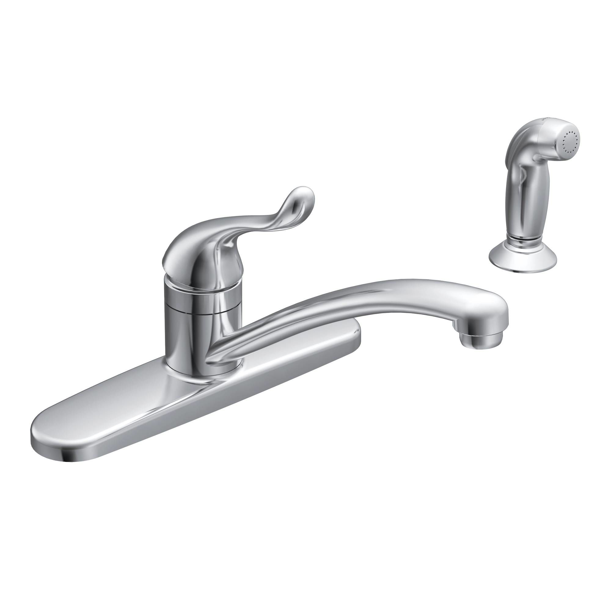 Moen Ca87530 Chrome Kitchen Faucet With Side Spray From The Adler Collection Faucet Com