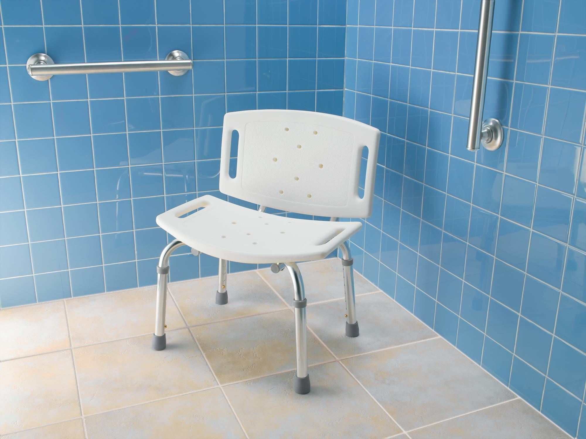 Moen CSIDN7030 White Adjustable Shower Seat with Seat Back from the ...