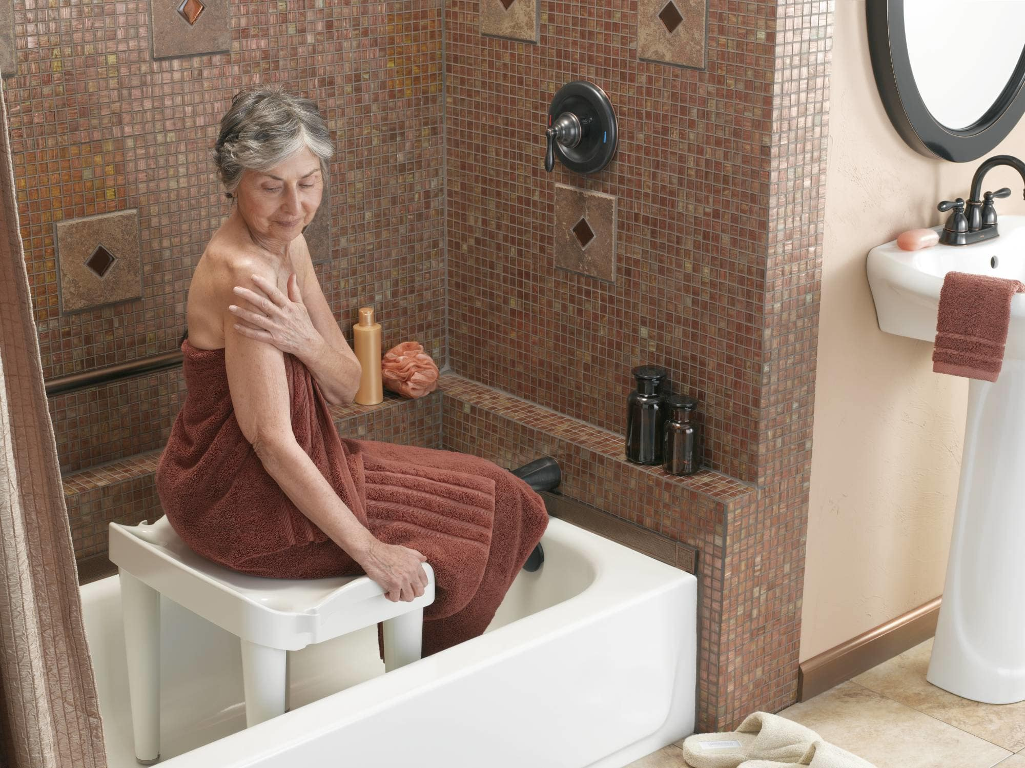 Moen DN7038 Glacier Stackable Tub and Shower Chair from the Home ...