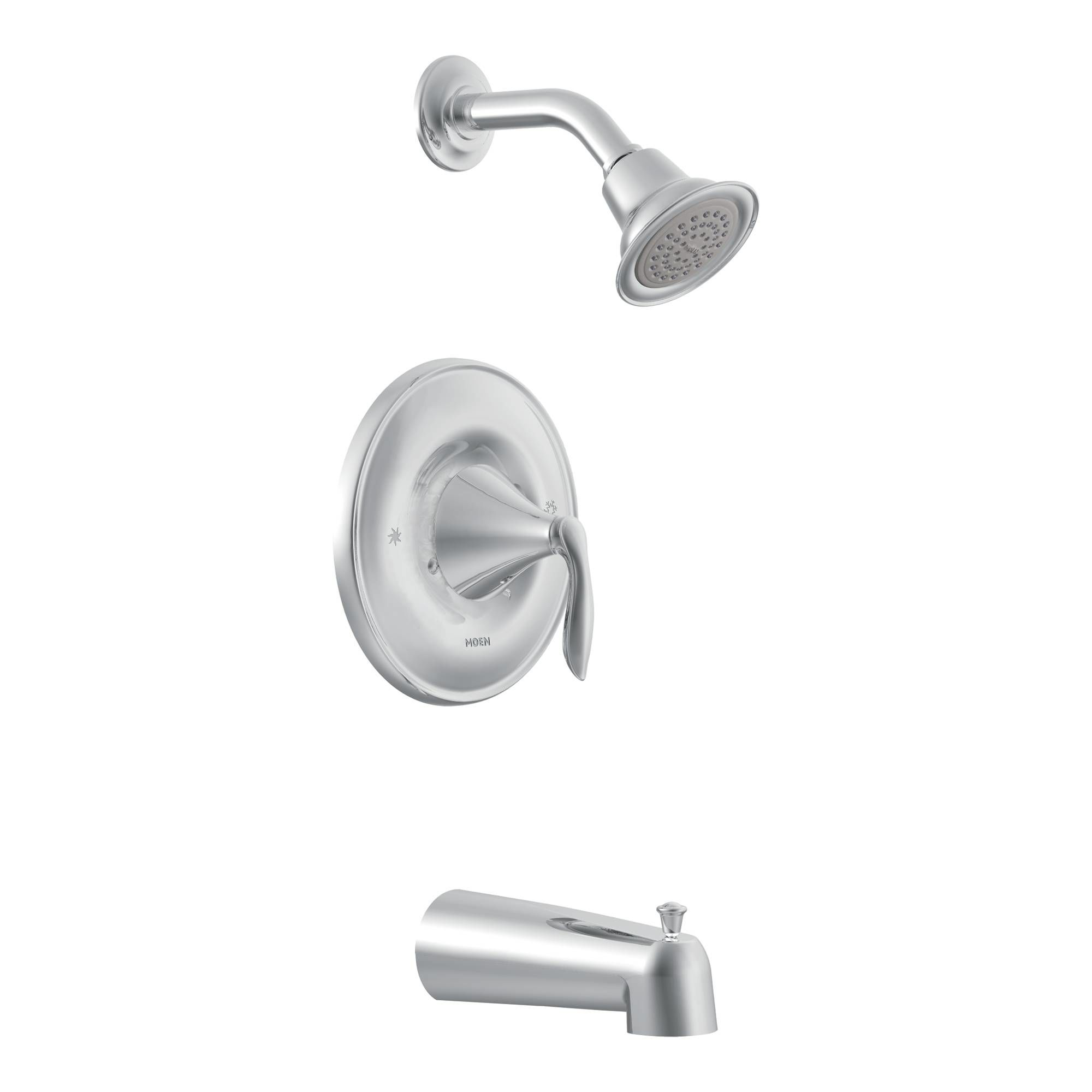 Merveilleux Moen T2133 Chrome Posi Temp Pressure Balanced Tub And Shower Trim With 2.5  GPM Shower Head And Tub Spout From The Eva Collection (Less Valve)   Faucet .com