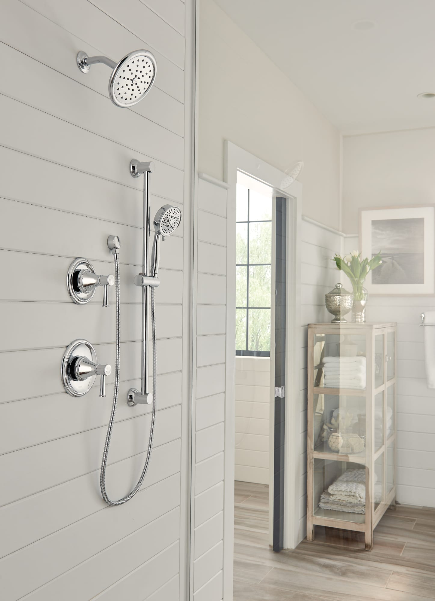 Moen T3313NH Chrome Belfield Tub and Shower Trim Package with ...