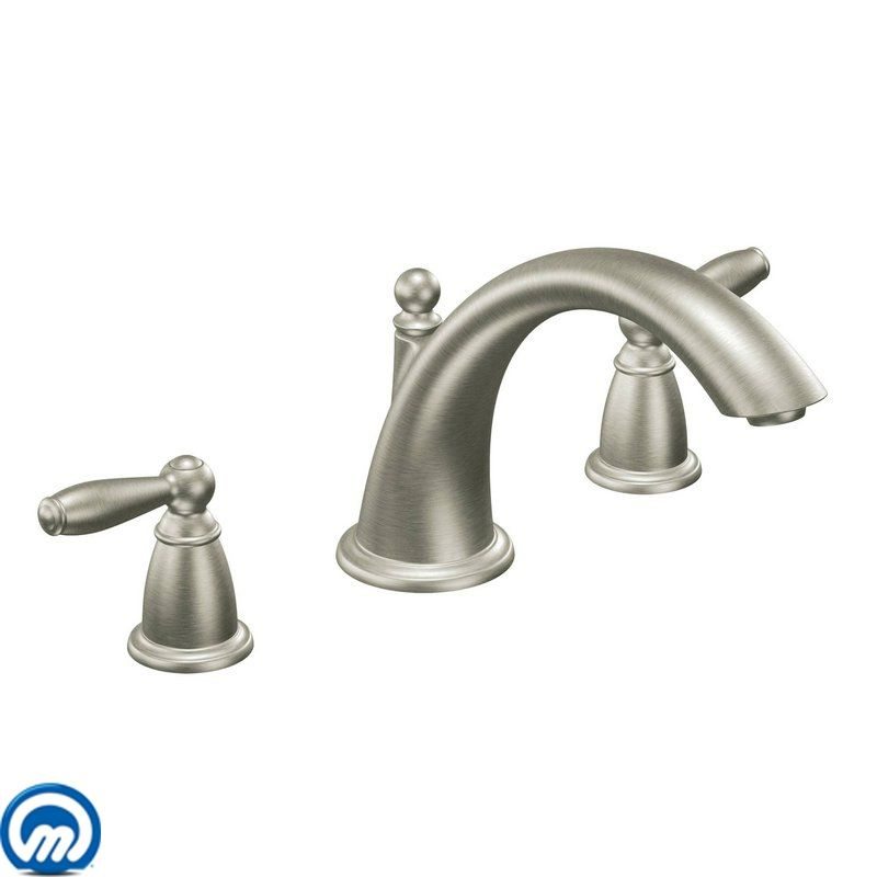 Moen T933BN Brushed Nickel Deck Mounted Roman Tub Faucet Trim from ...