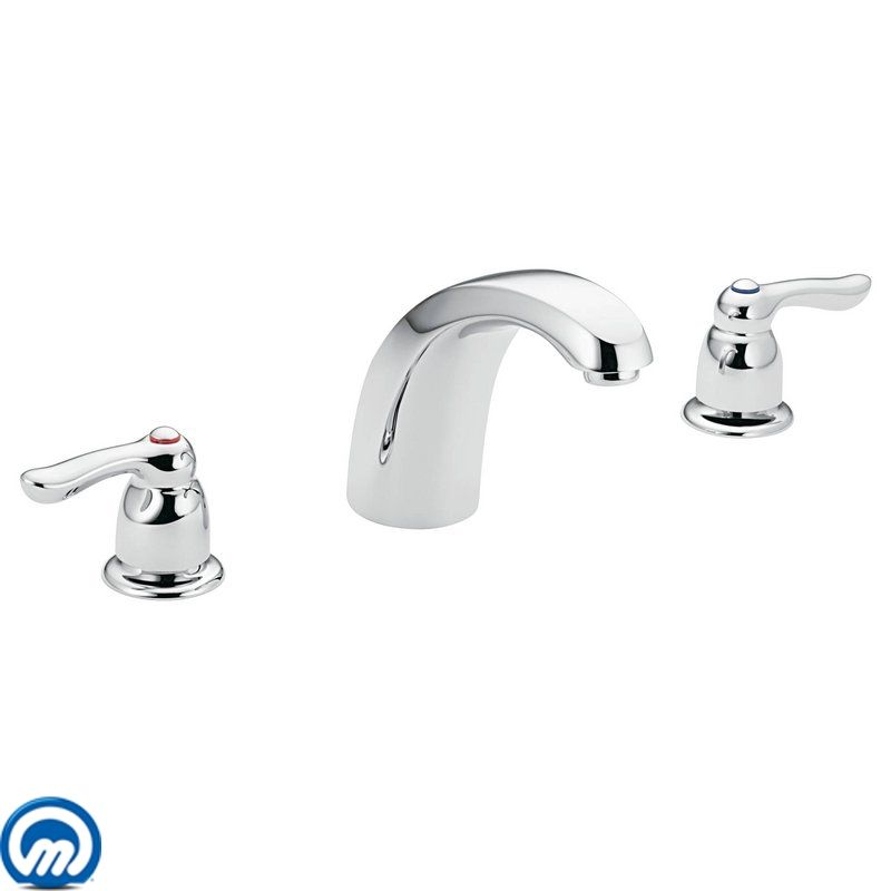 Moen T994 Chrome Deck Mounted Roman Tub Faucet Trim from the Chateau ...