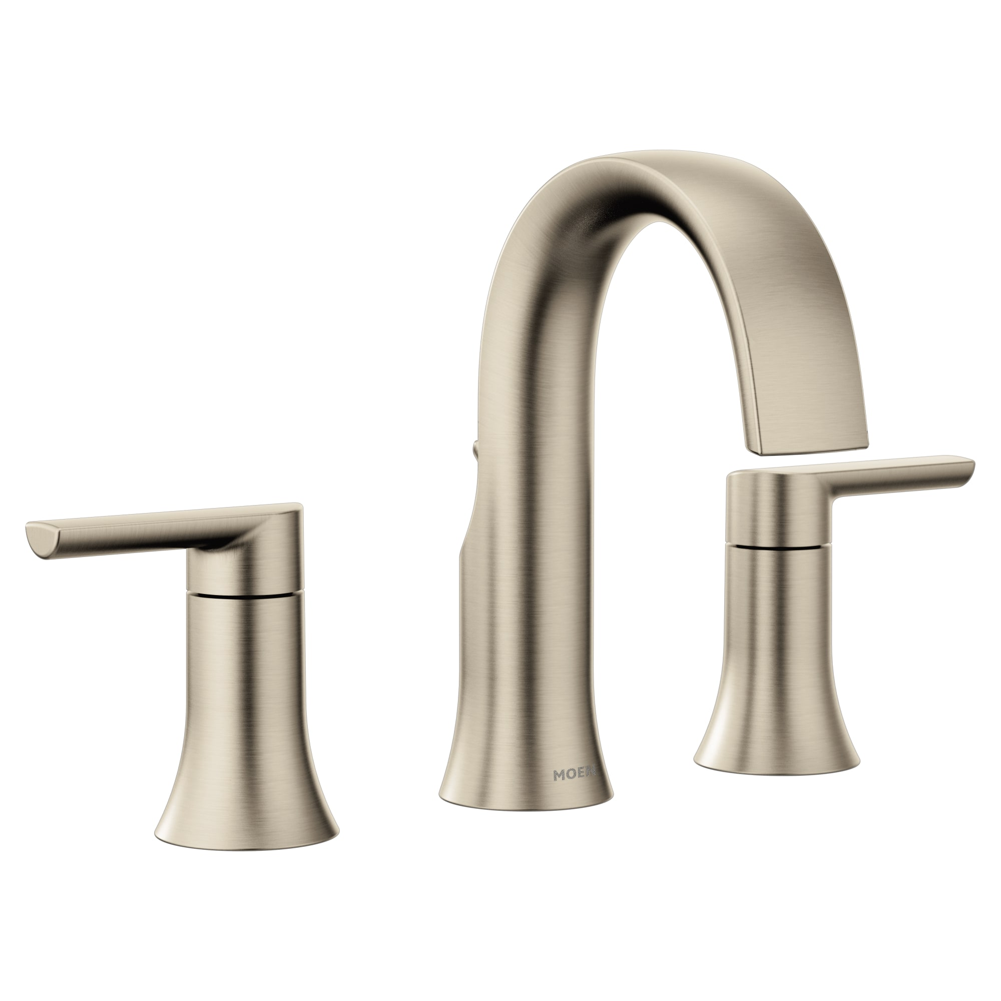 Moen Ts6925 Chrome Doux 1 2 Gpm Widespread Bathroom Faucet Less Valve And Drain Assembly Faucetdirect Com