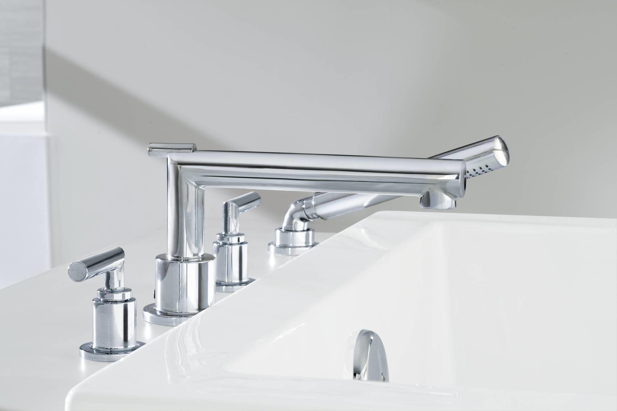 Moen TS93004BN Brushed Nickel Deck Mounted Roman Tub Faucet Trim ...