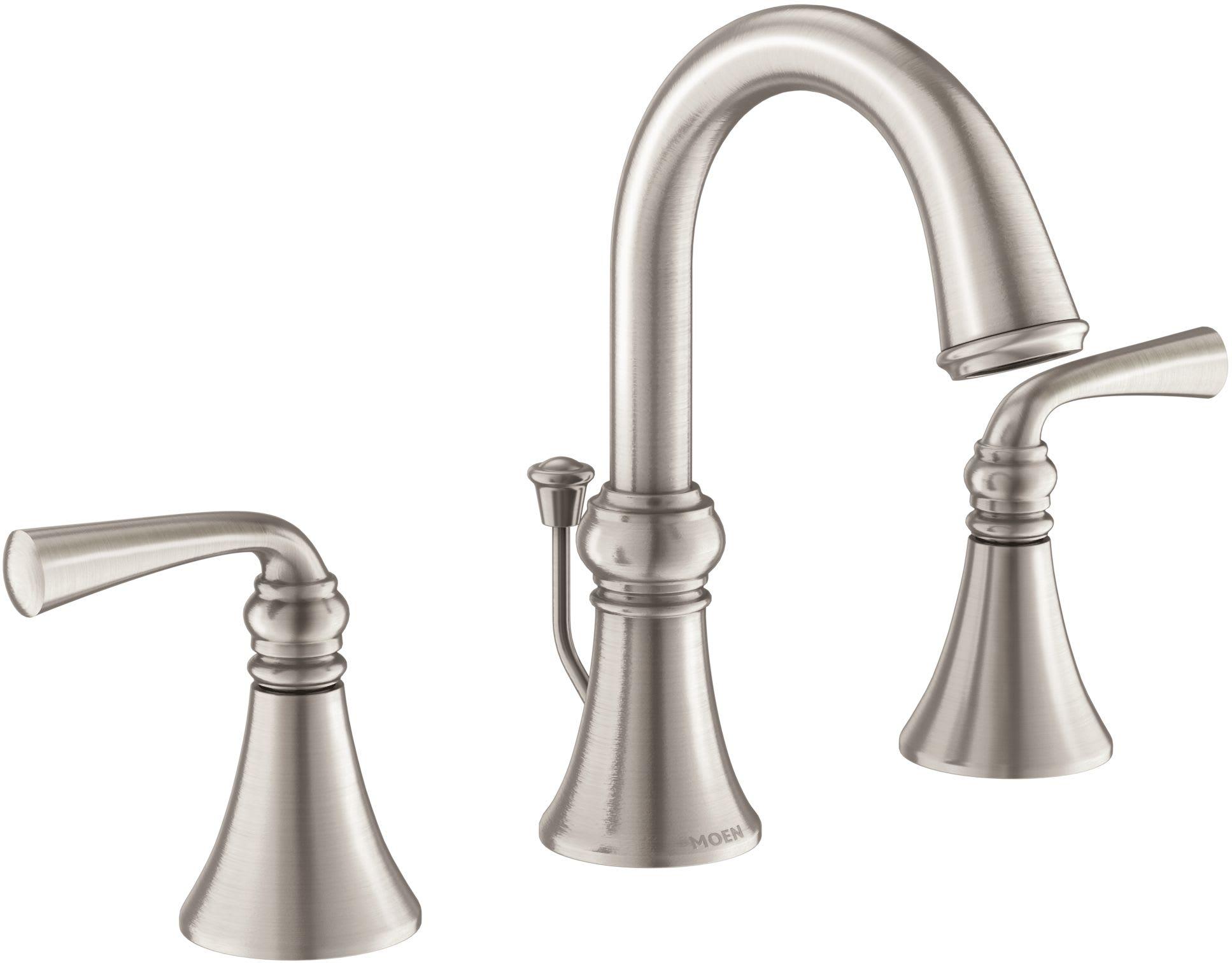 Gpm Widespread Bathroom Faucet, Moen Bathroom Faucets Widespread Brushed Nickel