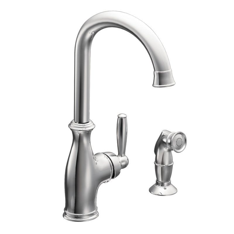 Moen 7735SRS Spot Resist Stainless Single Handle Kitchen Faucet From The  Brantford Collection   Faucet.com