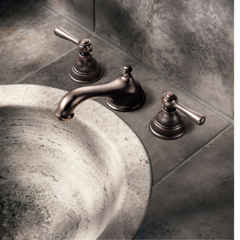 Moen T6105 Chrome Double Handle Widespread Bathroom Faucet from the ...