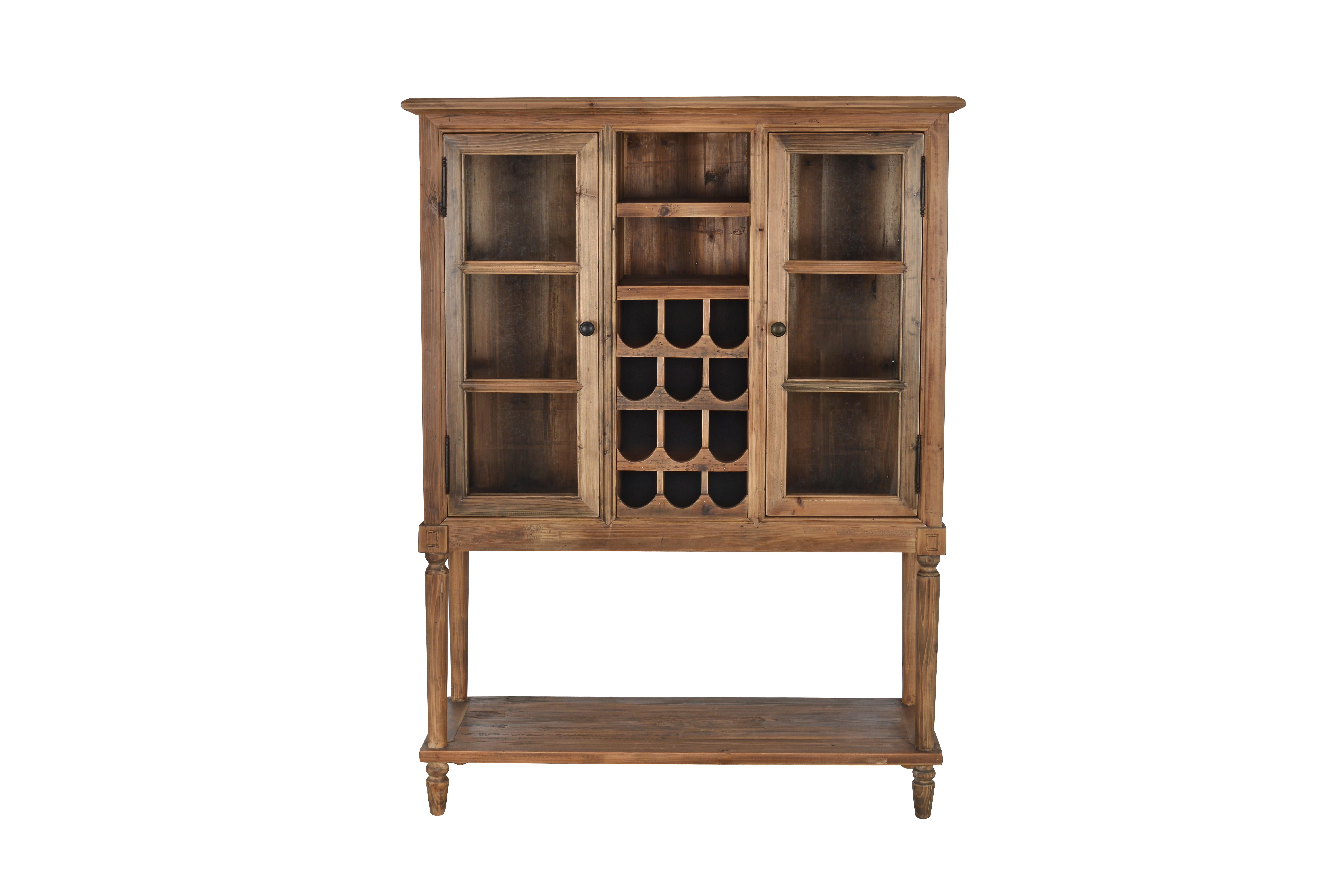 Saloon 49 inch wide birch wood bar cabinet