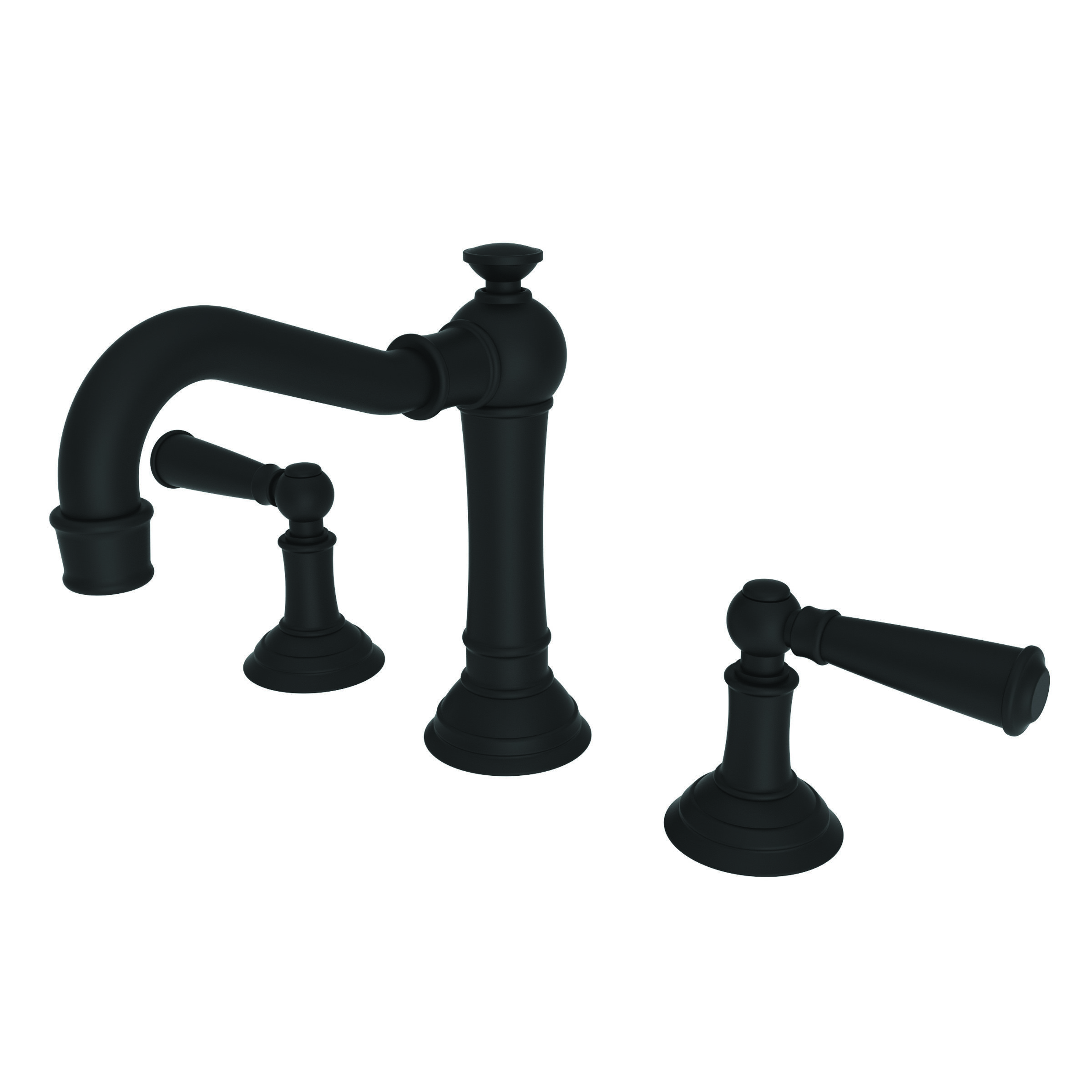 Newport Brass 2470/54 Gloss Black Double Handle Widespread Bathroom ...