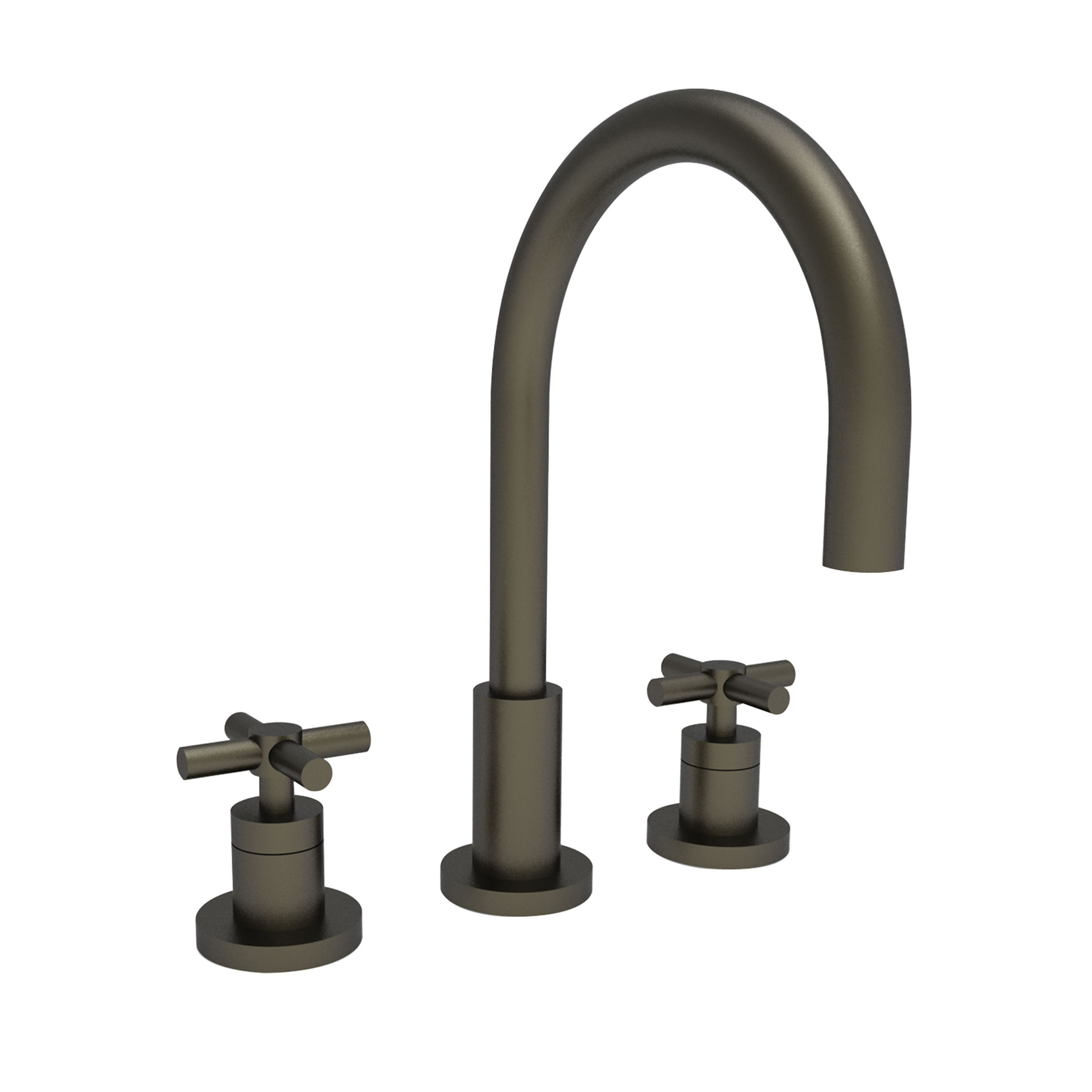 Newport brass 990 10b oil rubbed bronze east linear double handle widespread lavatory faucet with metal cross handles faucet com