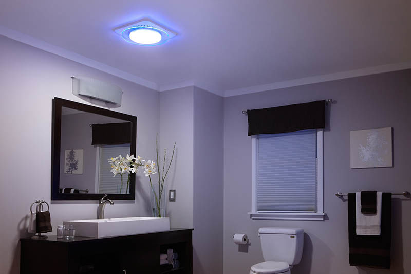 Bathroom Night Light nutone qtnledb bathroom fan - build