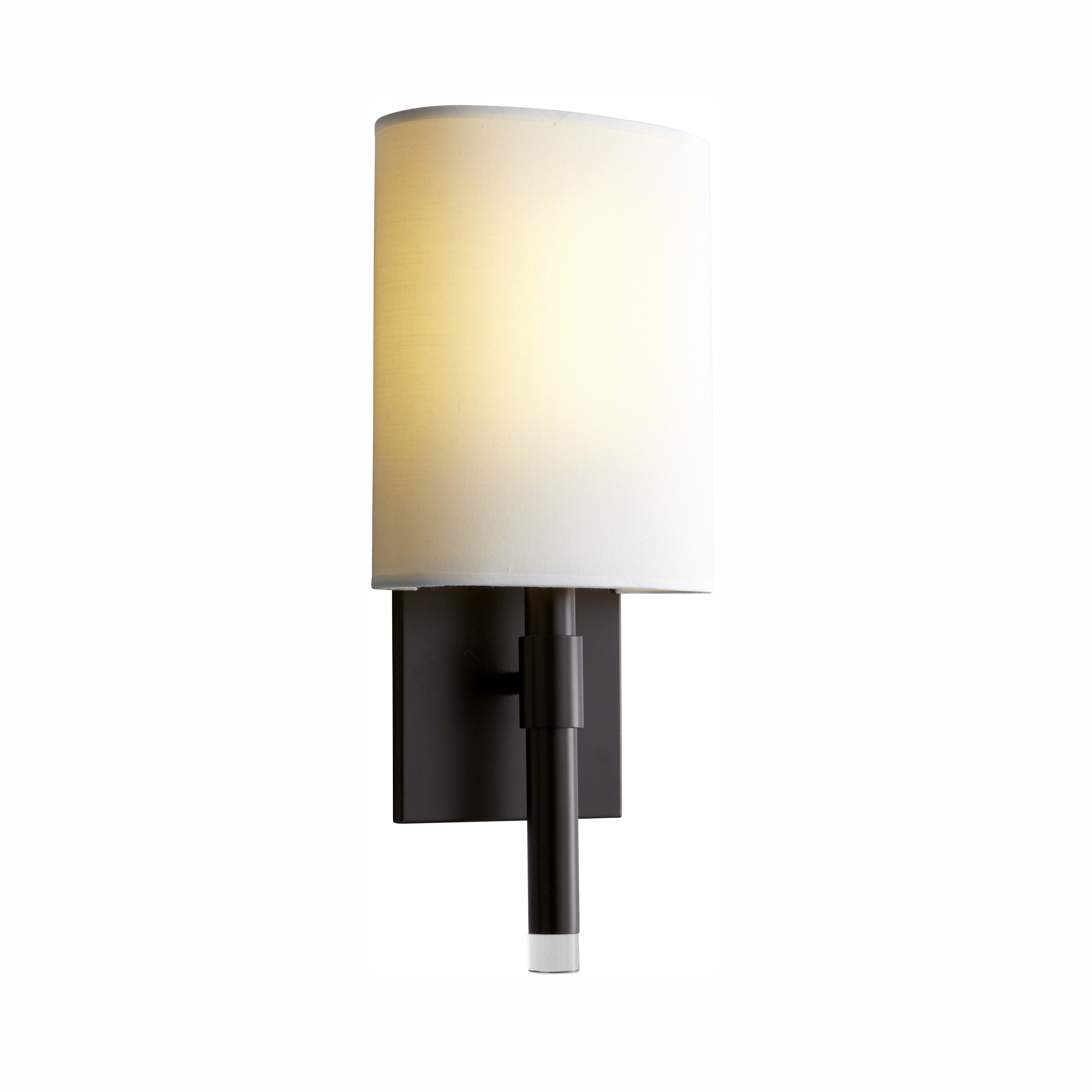 Oxygen Lighting 3 587 295 Old World Matte White Beacon 17 Tall Ada Single Light Led Bathroom Sconce With Acrylic Half Cylinder Shade Lightingdirect Com