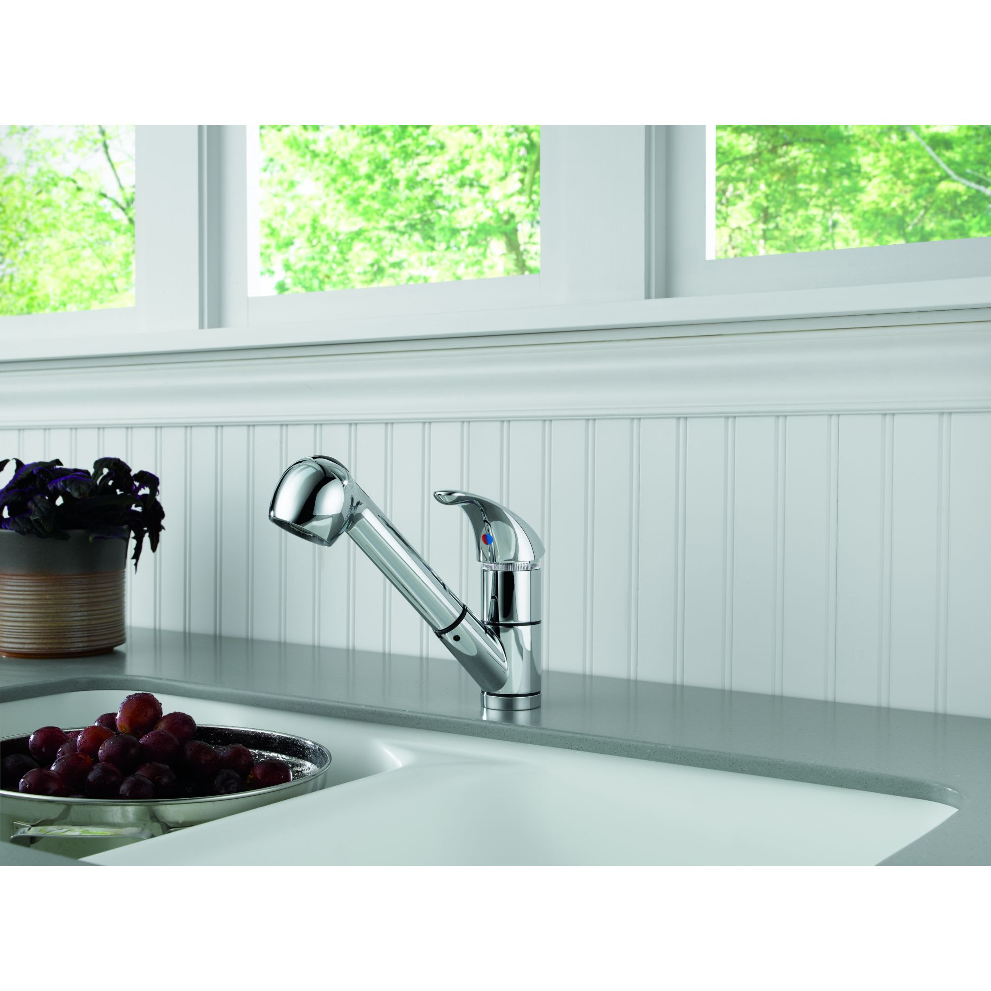 Peerless P18550LF Chrome Pull-out Kitchen Faucet with Two Function ...