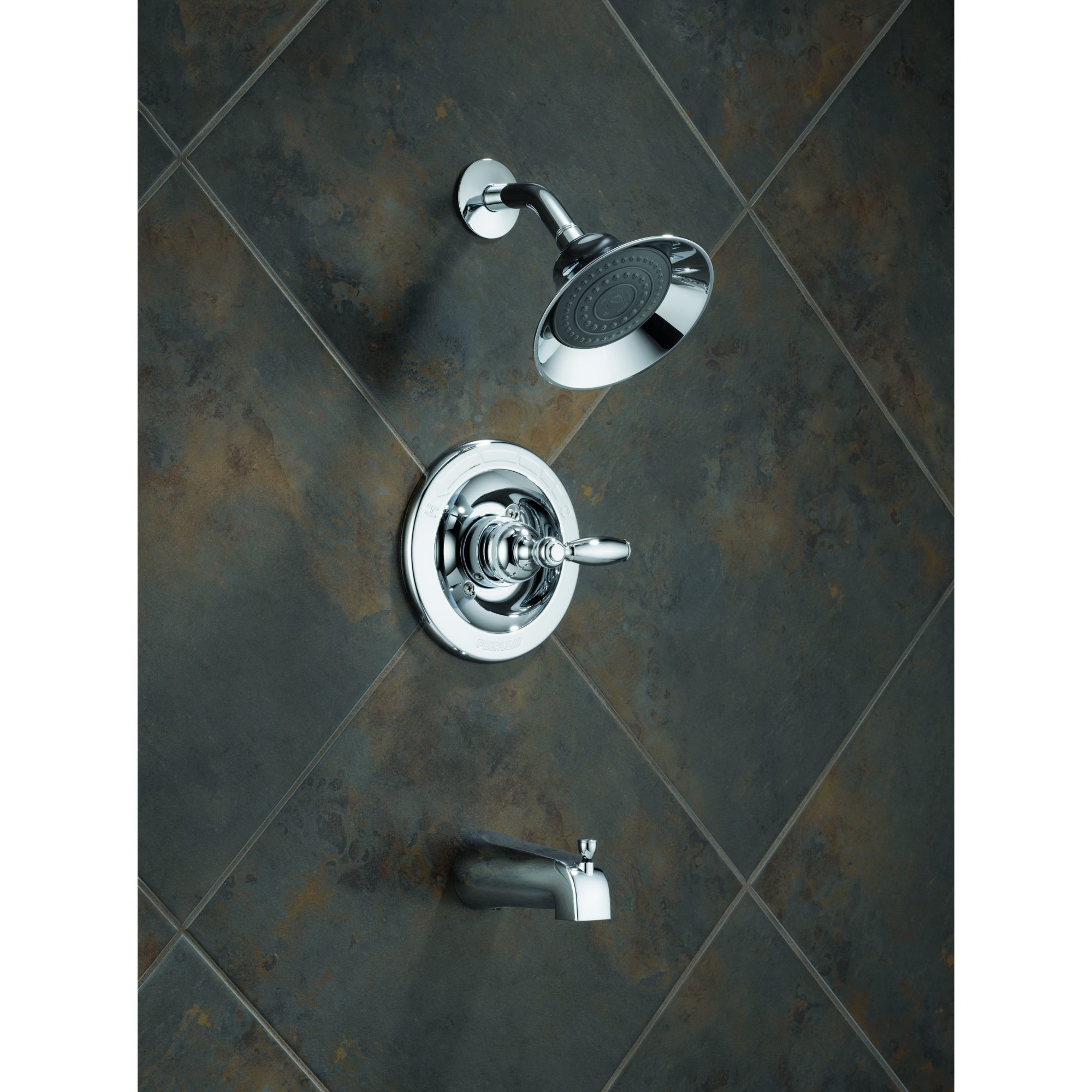 Peerless P188775-BN Brilliance Brushed Nickel Tub and Shower Faucet ...