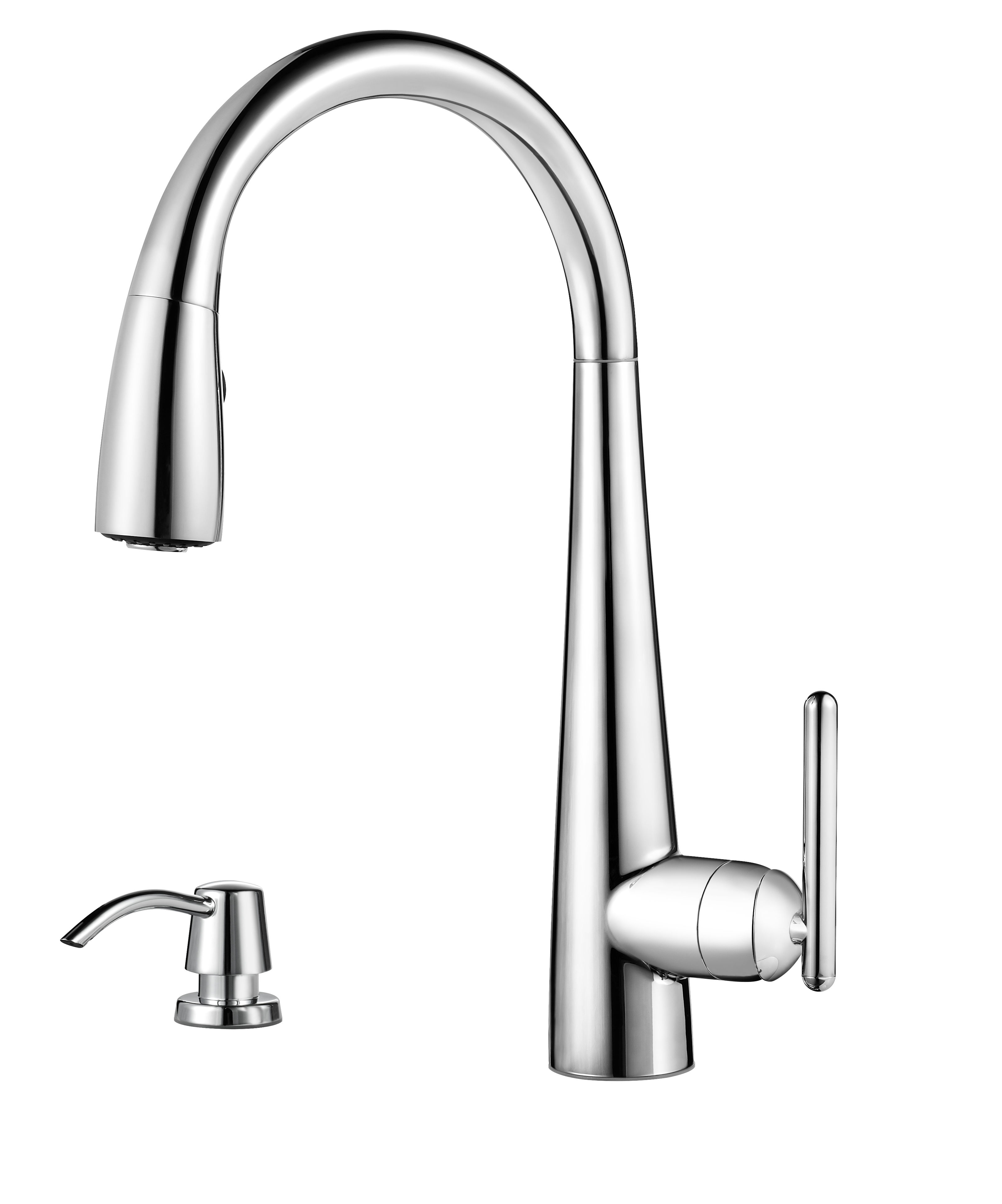 Pfister GT529-SMC Polished Chrome Lita 3 Function Pullout Spray High ...