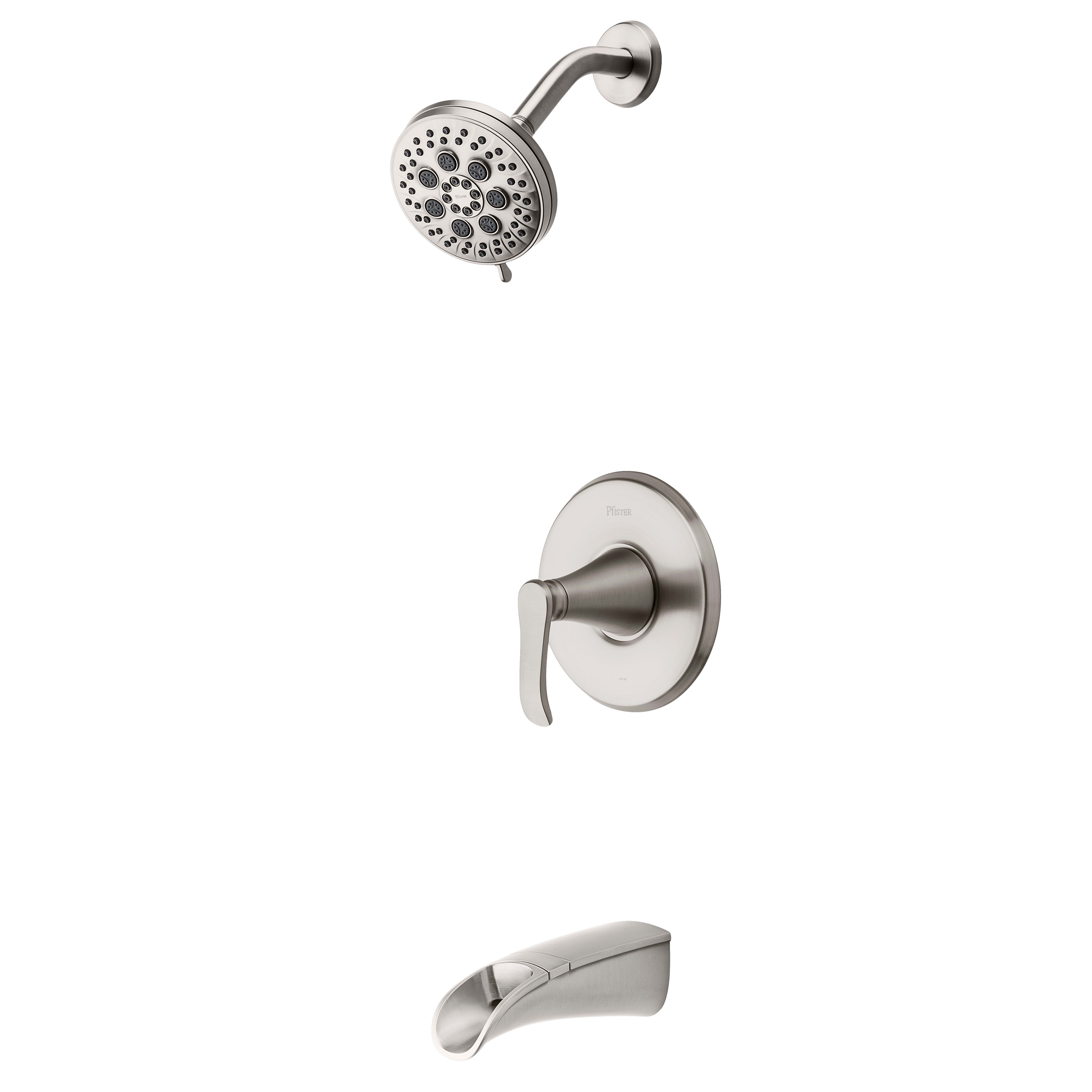 Pfister 8p8 Ws2 Jdsgs Spot Defense Brushed Nickel Jaida Tub And Shower Trim Package With Multi Function Shower Head Faucetdirect Com
