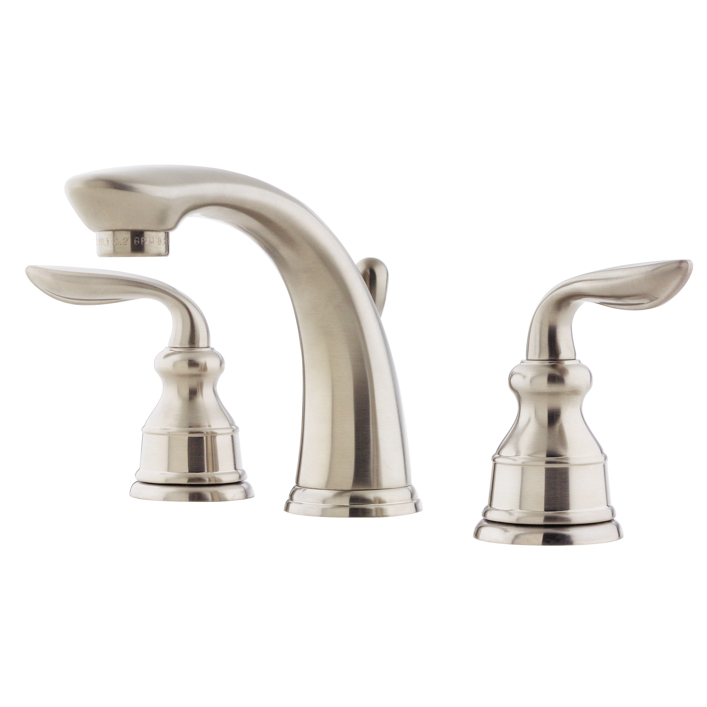 Pfister LF 049 CB0K Brushed Nickel Avalon 1.2 GPM Widespread Bathroom Sink  Faucet With Metal Pop Up Assembly   Faucet.com