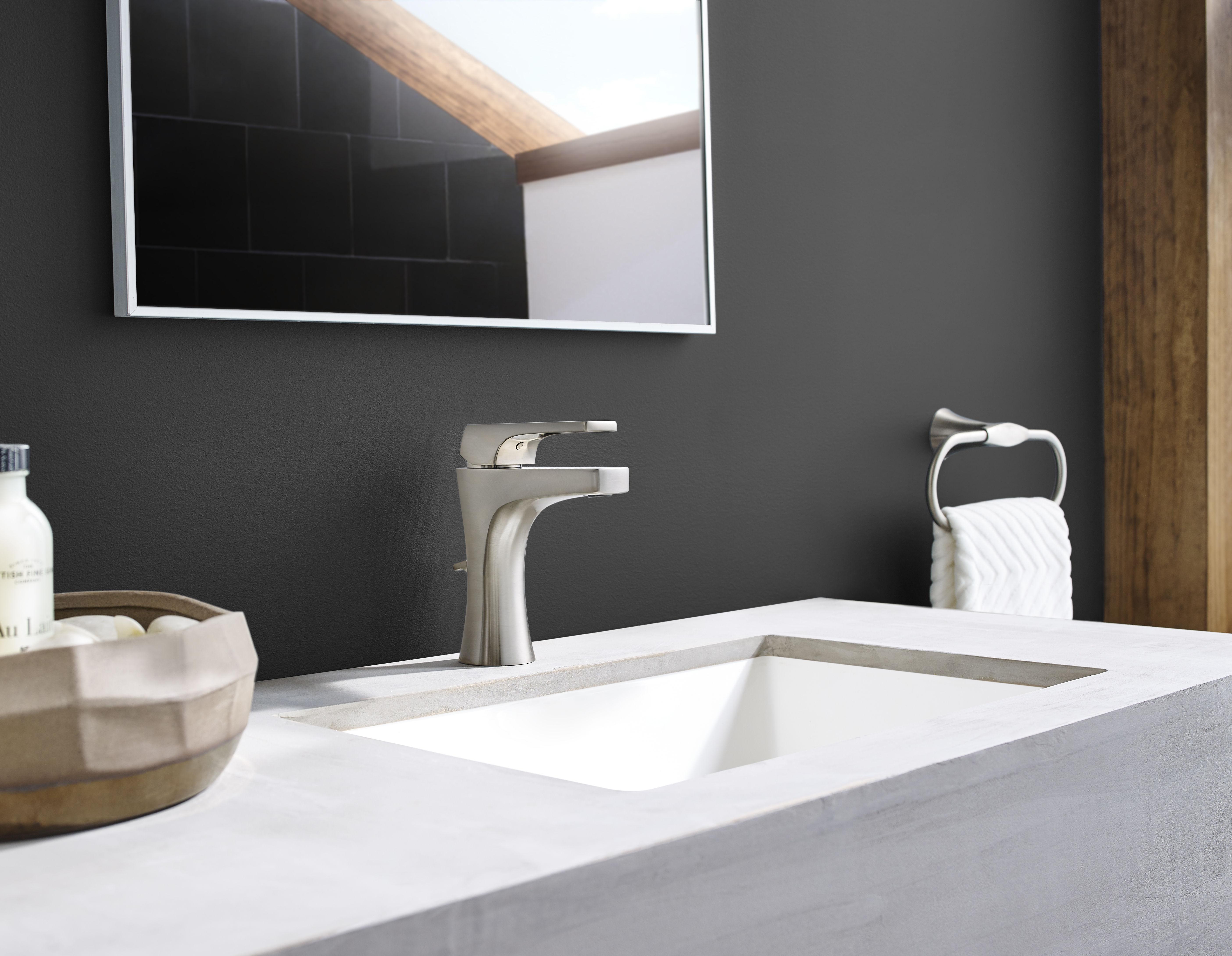 Pfister LG42-MF0K Brushed Nickel Kelen Single Hole Bathroom Faucet ...