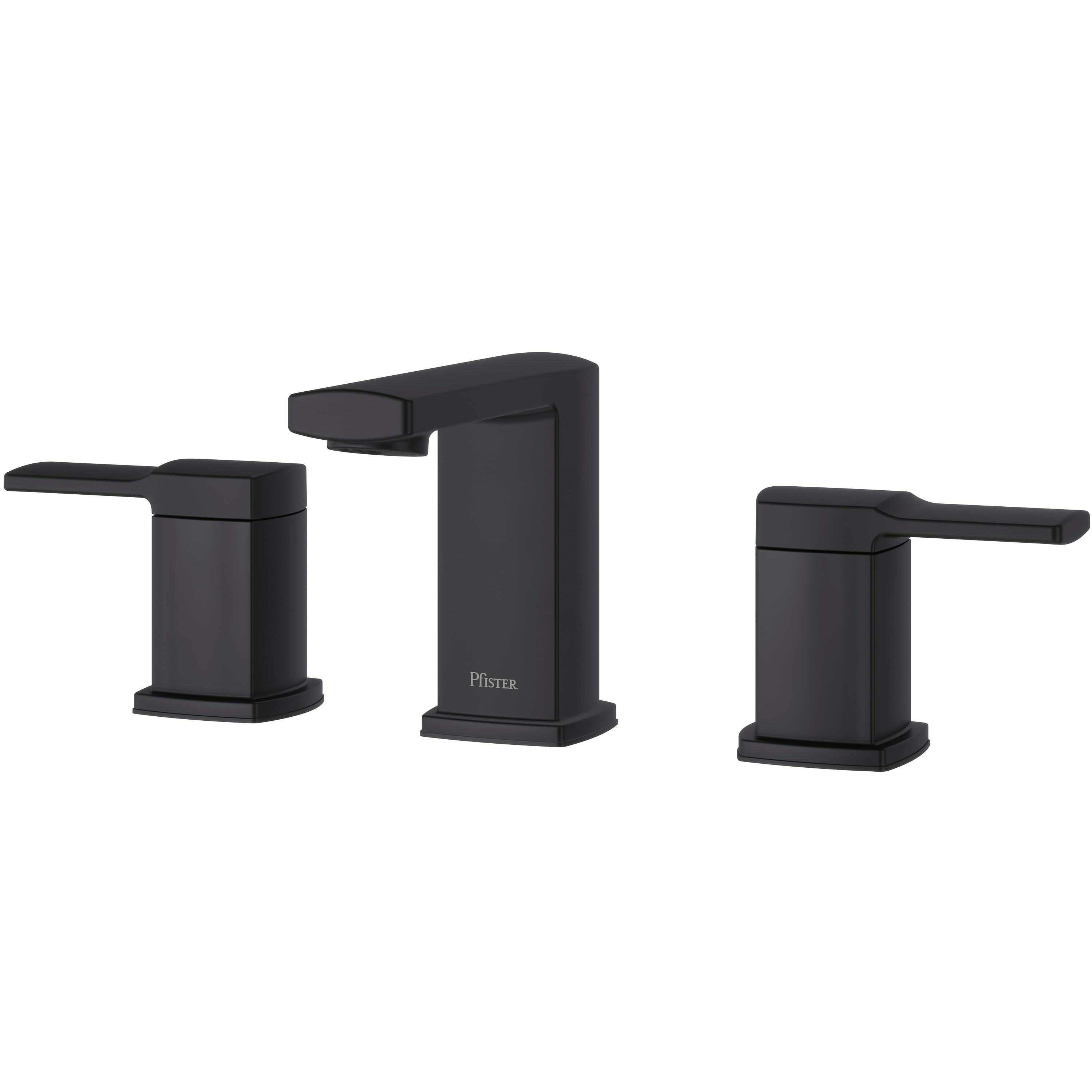 Pfister LG49-DA0B Matte Black Deckard 1.2 GPM Widespread Bathroom ...