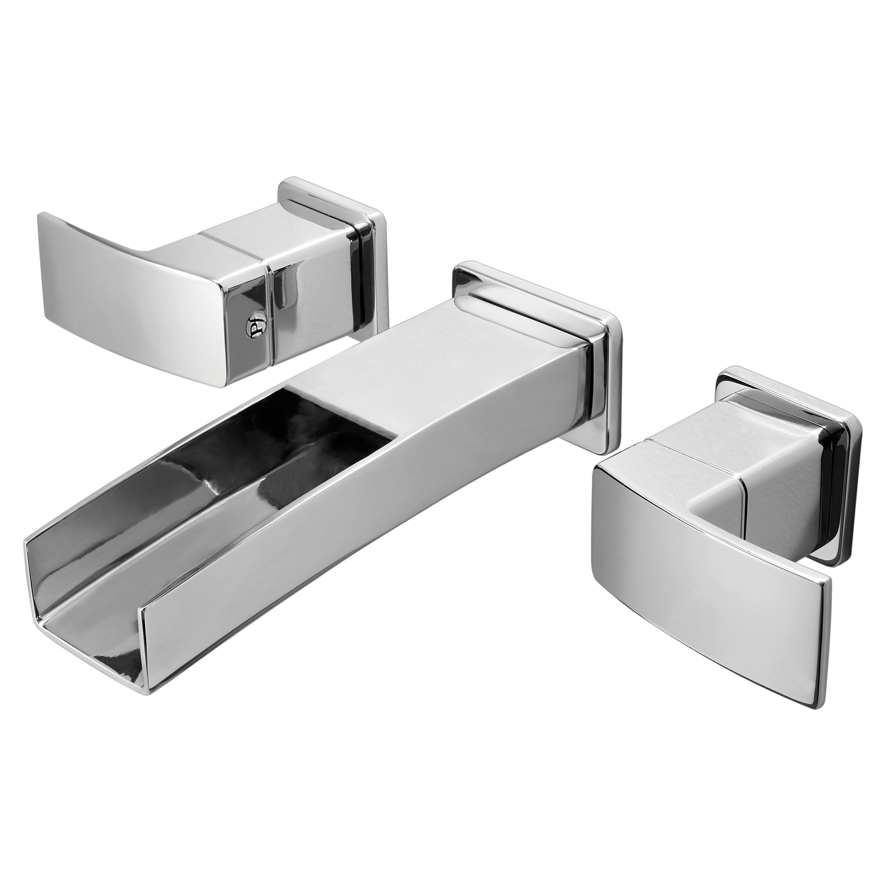 pfister lg49 df1c polished chrome kenzo wall mounted bathroom faucet less valve faucetcom - Pfister Bathroom Faucet