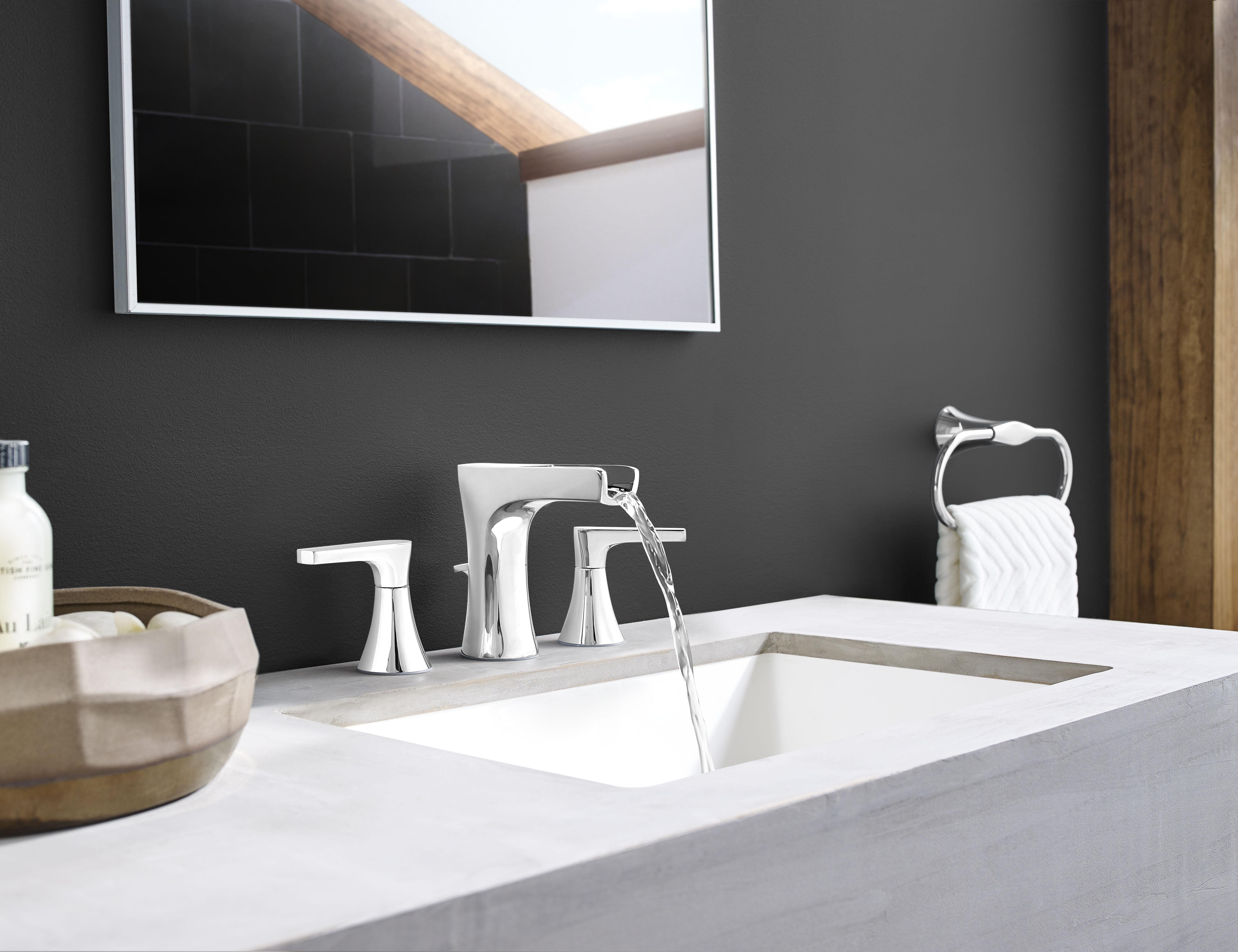 Pfister LG49-MF1K Brushed Nickel Kelen Widespread Bathroom Faucet ...