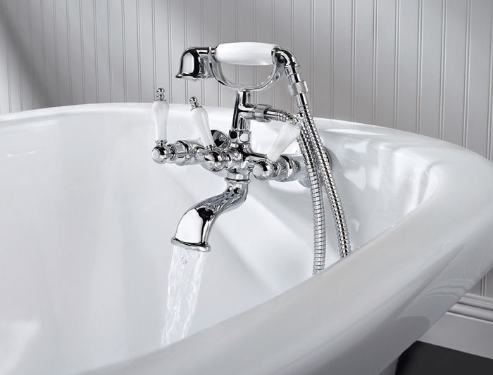 randolph british faucets claw telephone clawfoot sh inch package faucet tub morris with shower