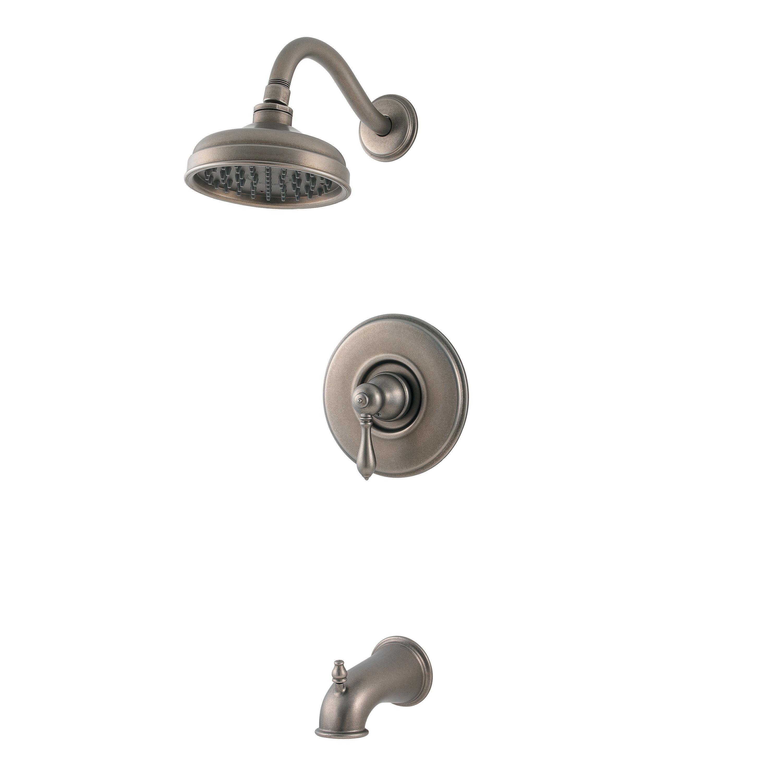 brushed nickel hanover showerheads 015 hv0k pfister faucets