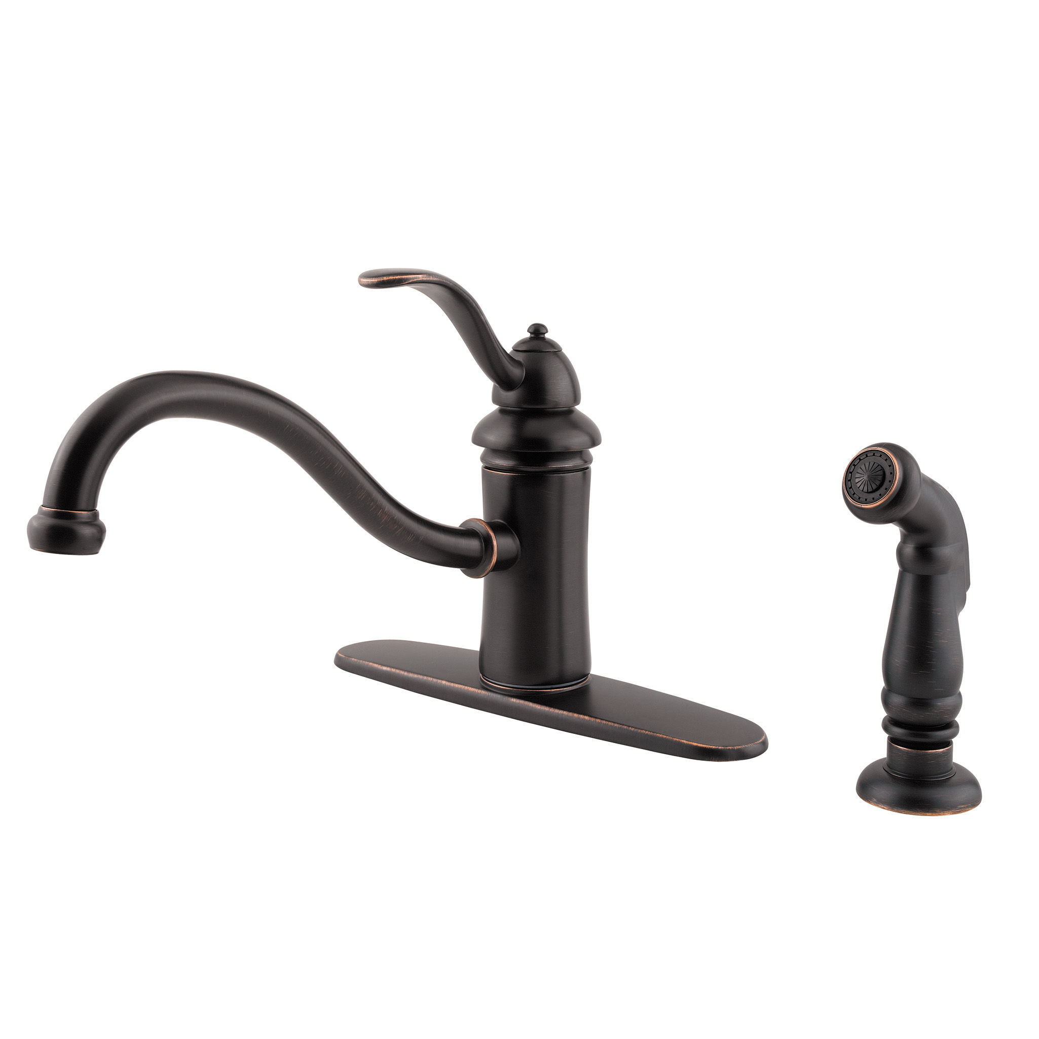 Pfister gt34 4tcc polished chrome marielle kitchen faucet with flex line supply lines and pfast connect technologies includes sidespray faucet com