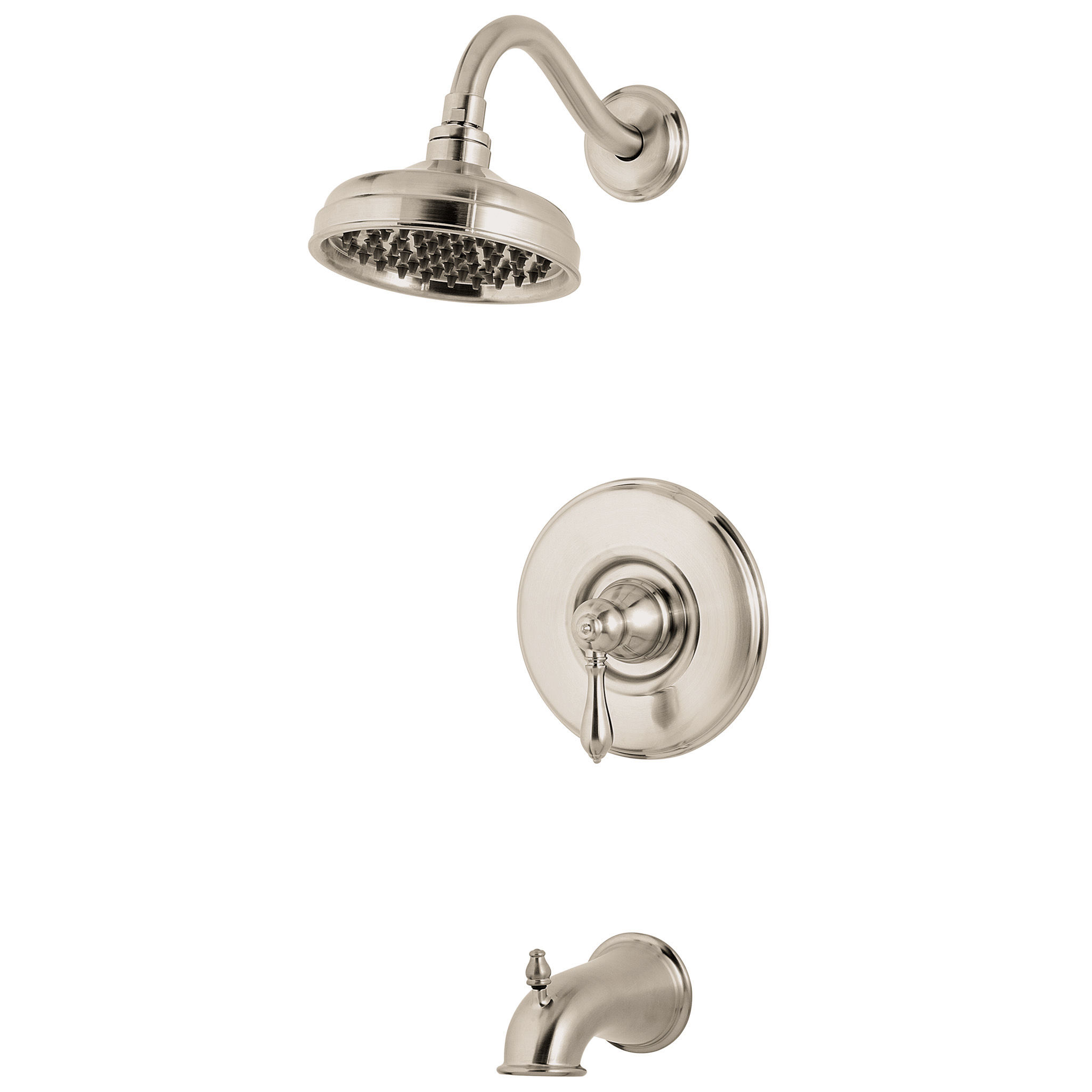 Pfister R89 8mbk Brushed Nickel Marielle Single Handle Tub And