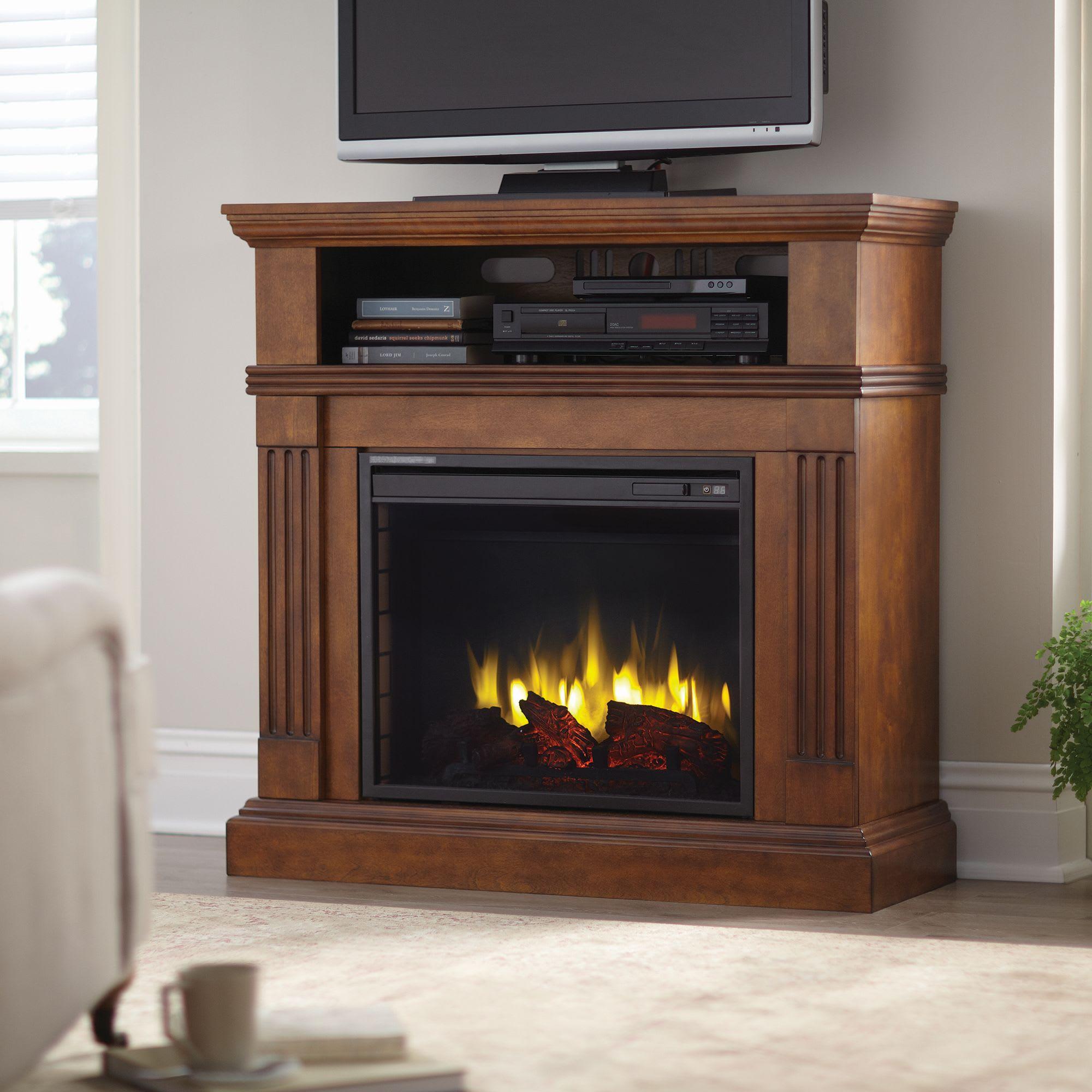 Pleasant Hearth Media Console Fireplace 238 412 17